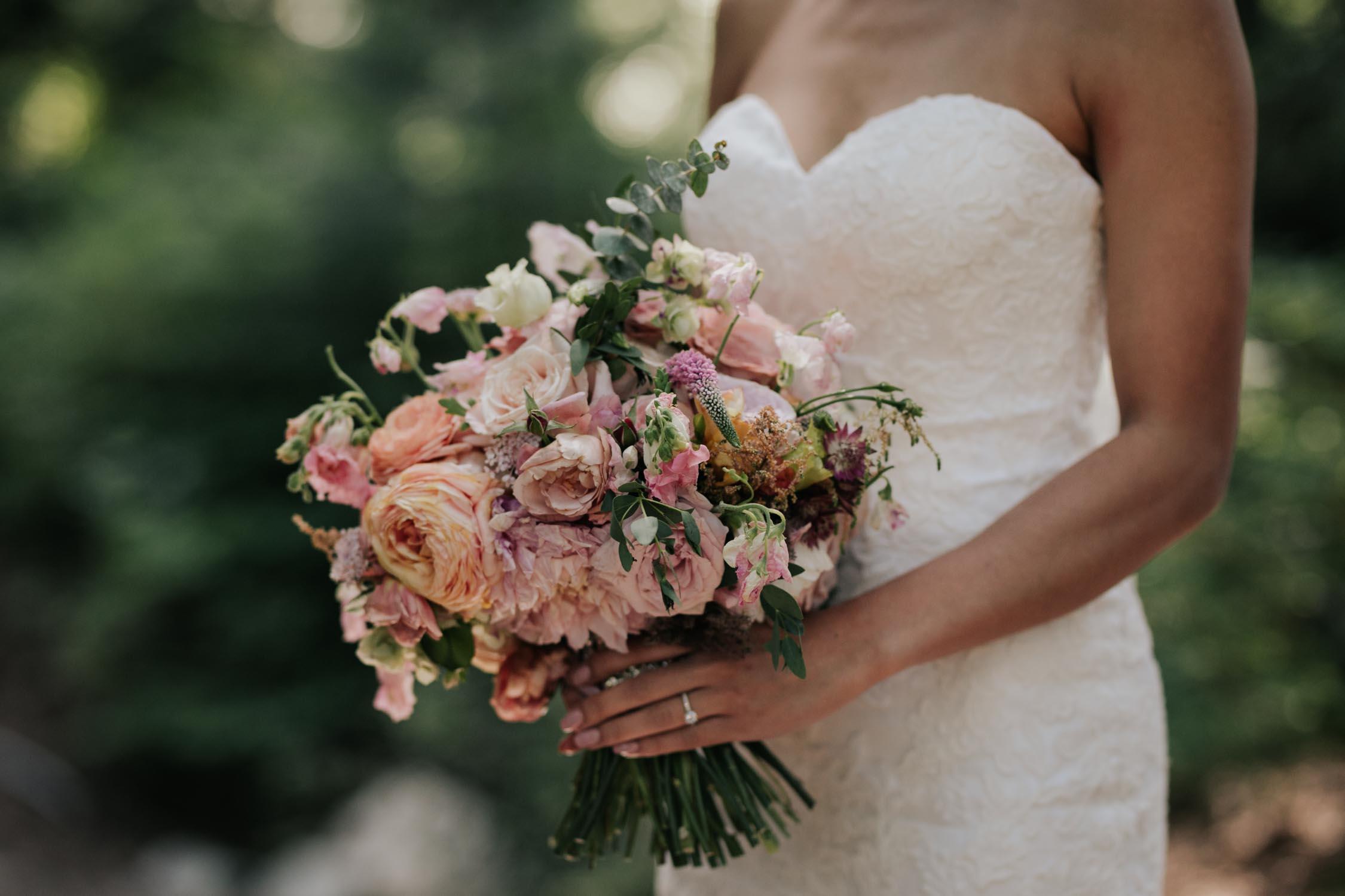 Trending Idea For Wedding Bouquet Pink Peach