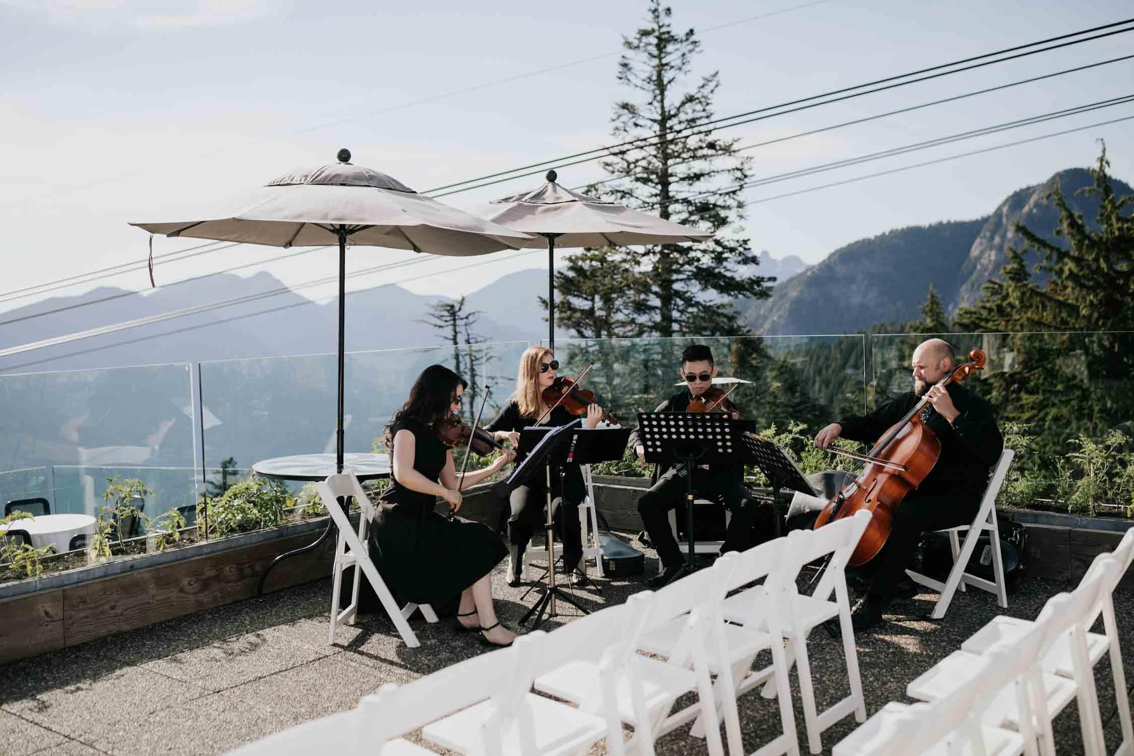 Altitudes Bistro Grouse Mountain Wedding Venue Band Music