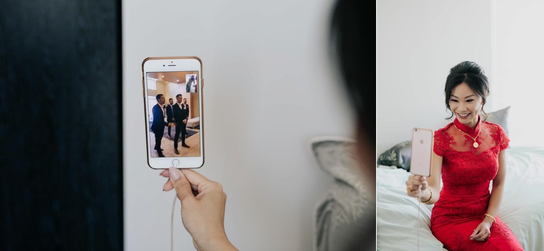 Bride Watches Groom Chinese Wedding Door Games