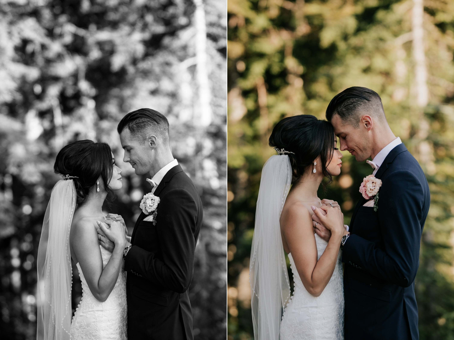 Intimate Natural Wedding Portrait Photographer Vancouver