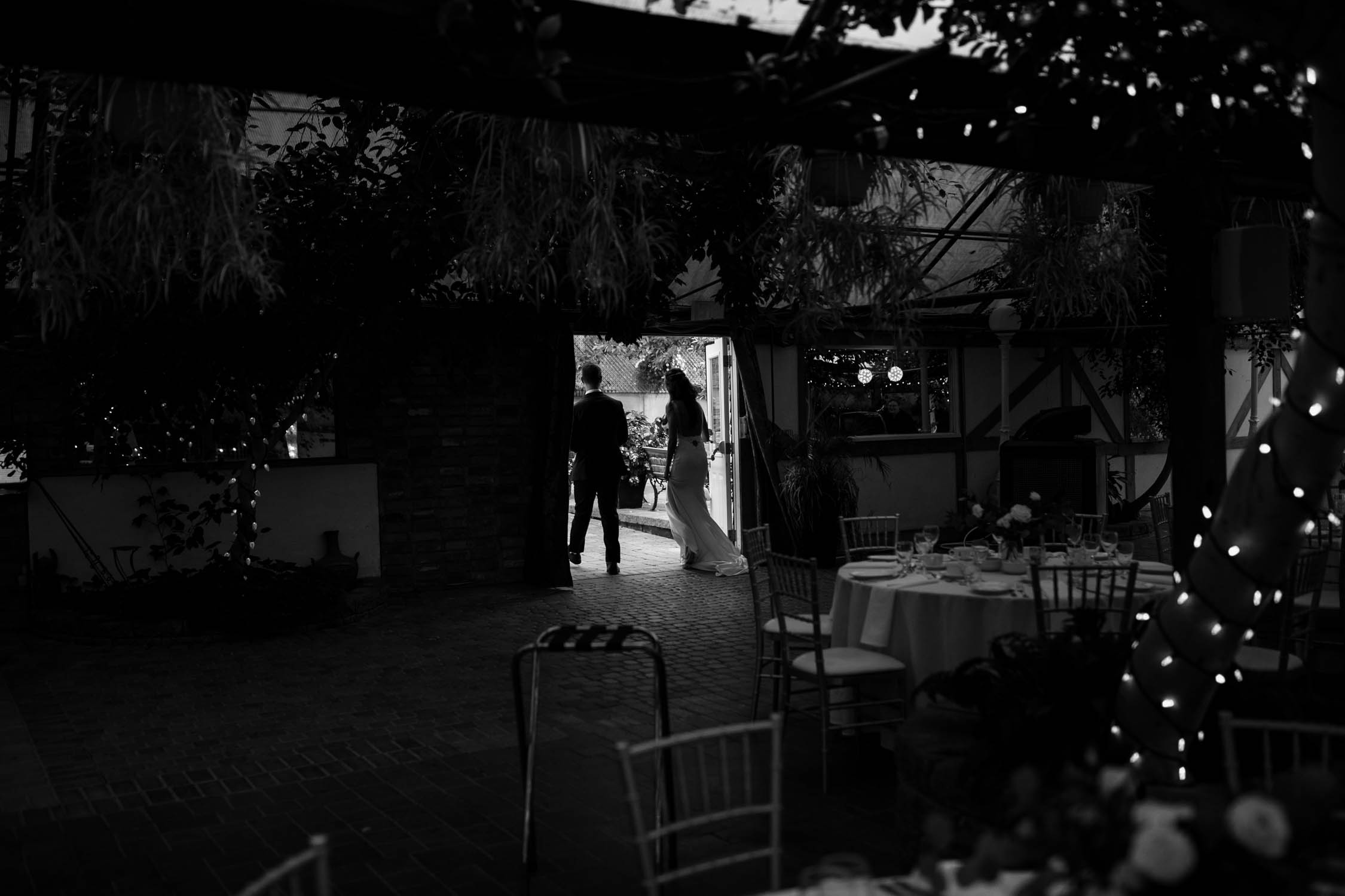 Bride and groom steal an intimate moment alone after wedding ceremony at Madsen's Greenhouse wedding venue in Newmarket close to Toronto