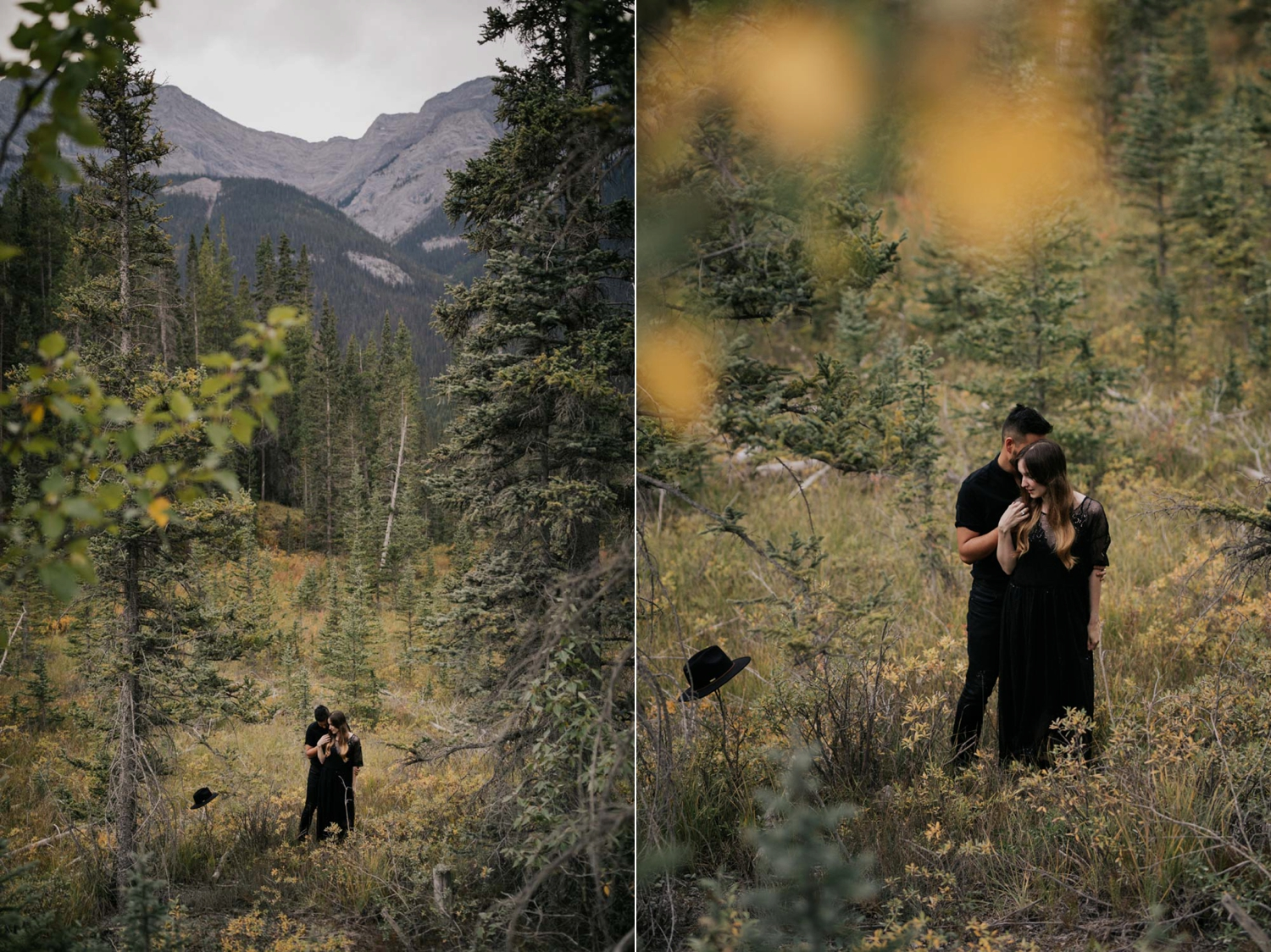 Engagement Photo Shoot Forest And Mountain Session