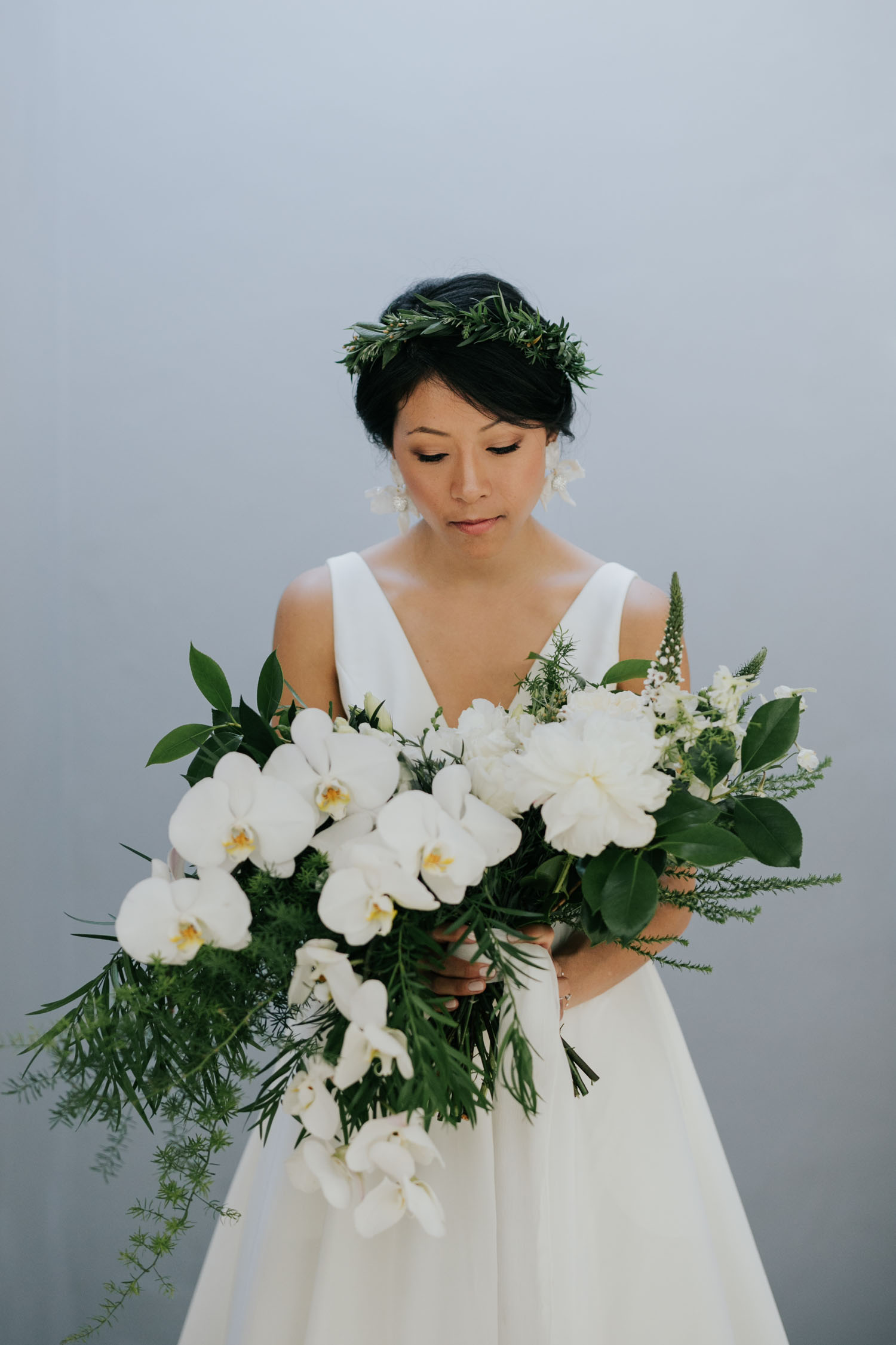 White Orchid Elegant Bridal Bouquet