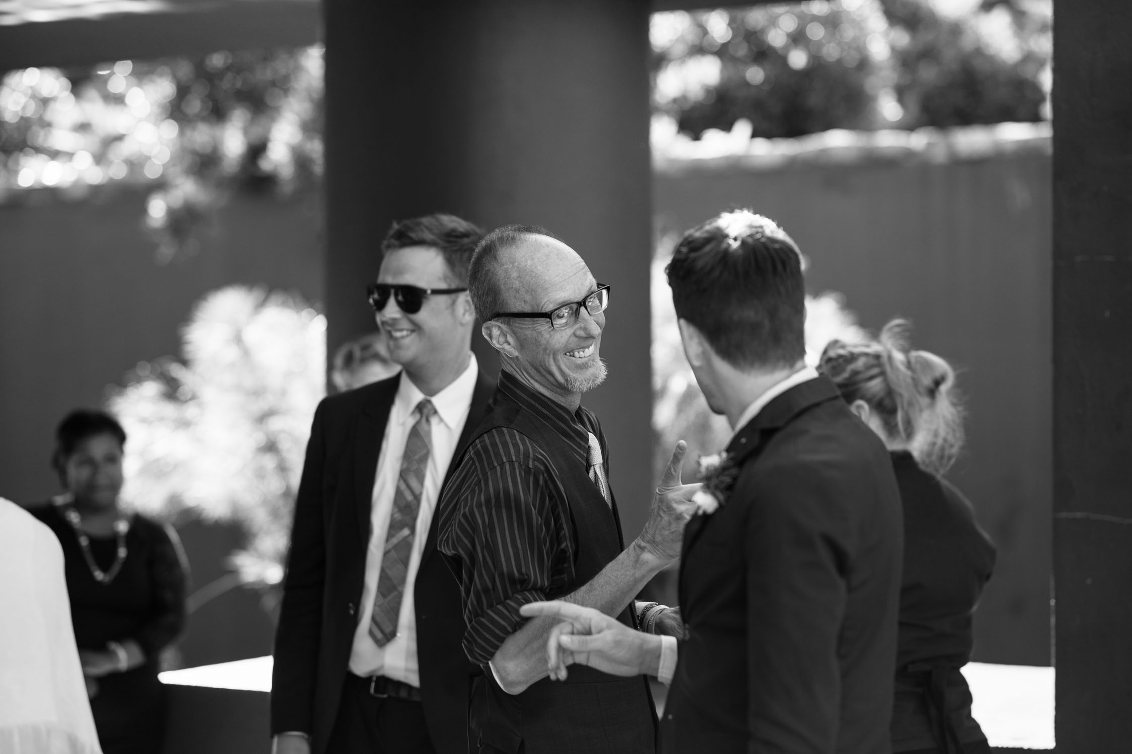 Natural Wedding Photos Of Guests Laughing