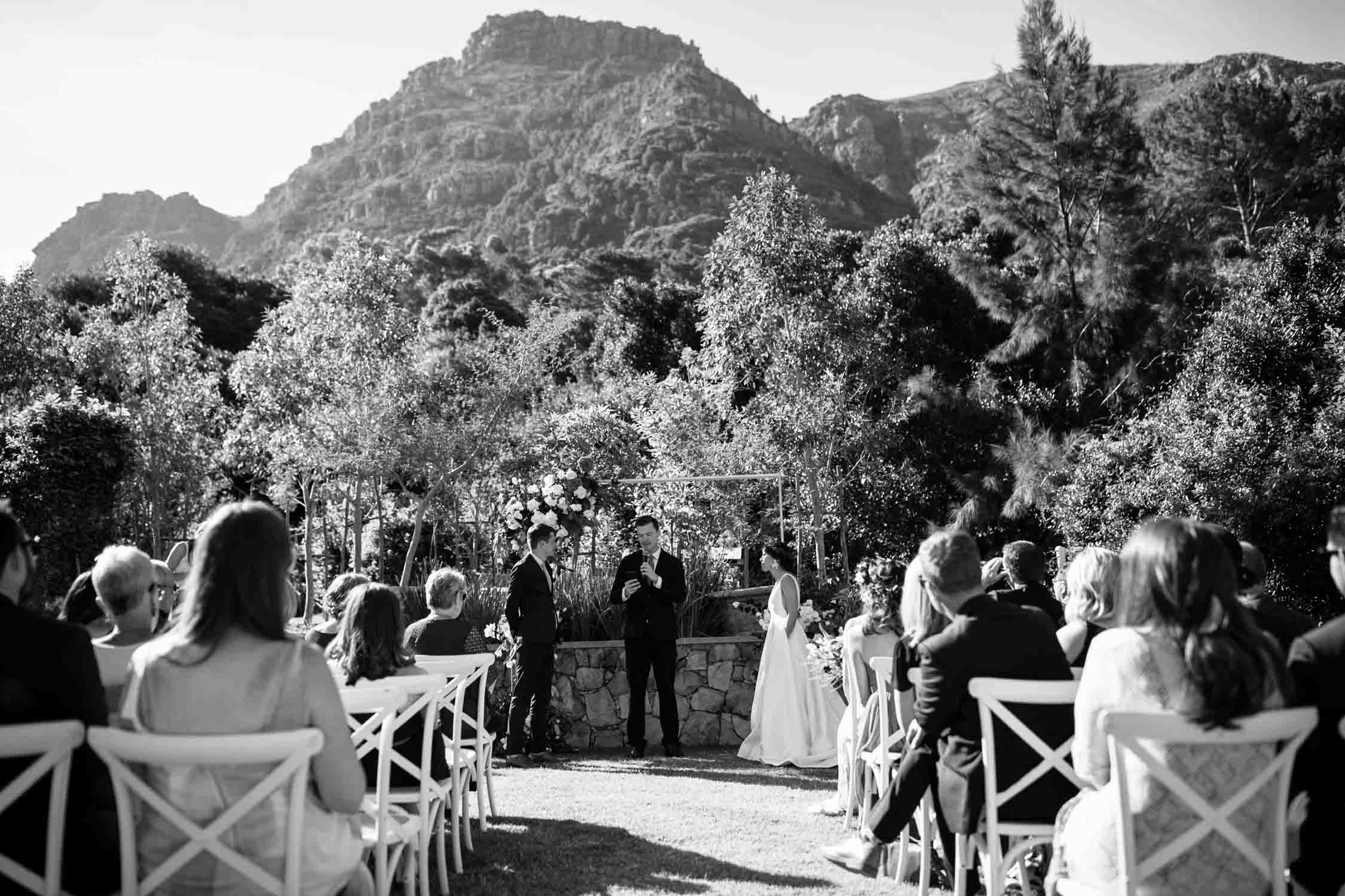 Outdoor Hout Bay Wedding Venue