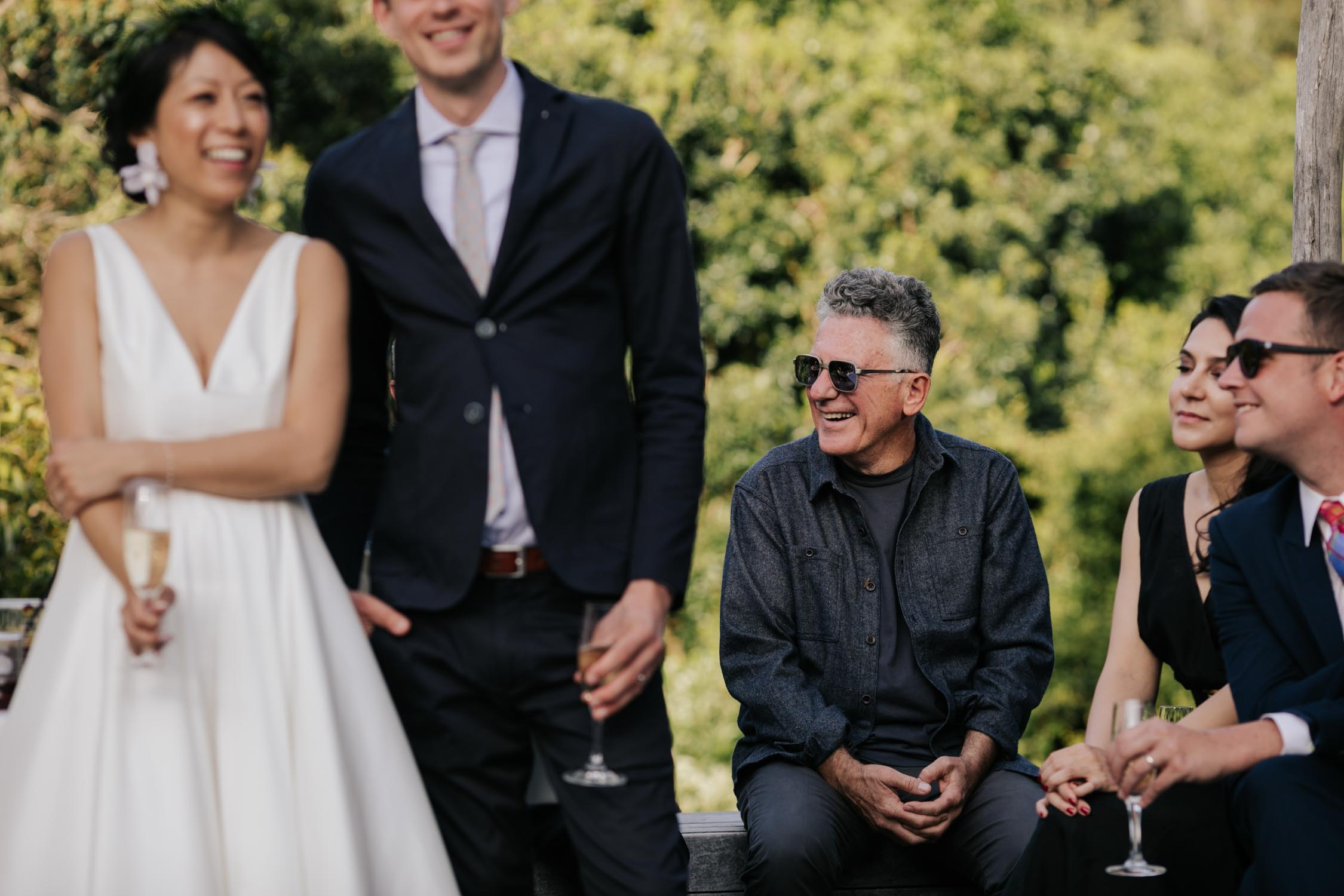 Guests Laughing During Speeches At Vancouver Wedding