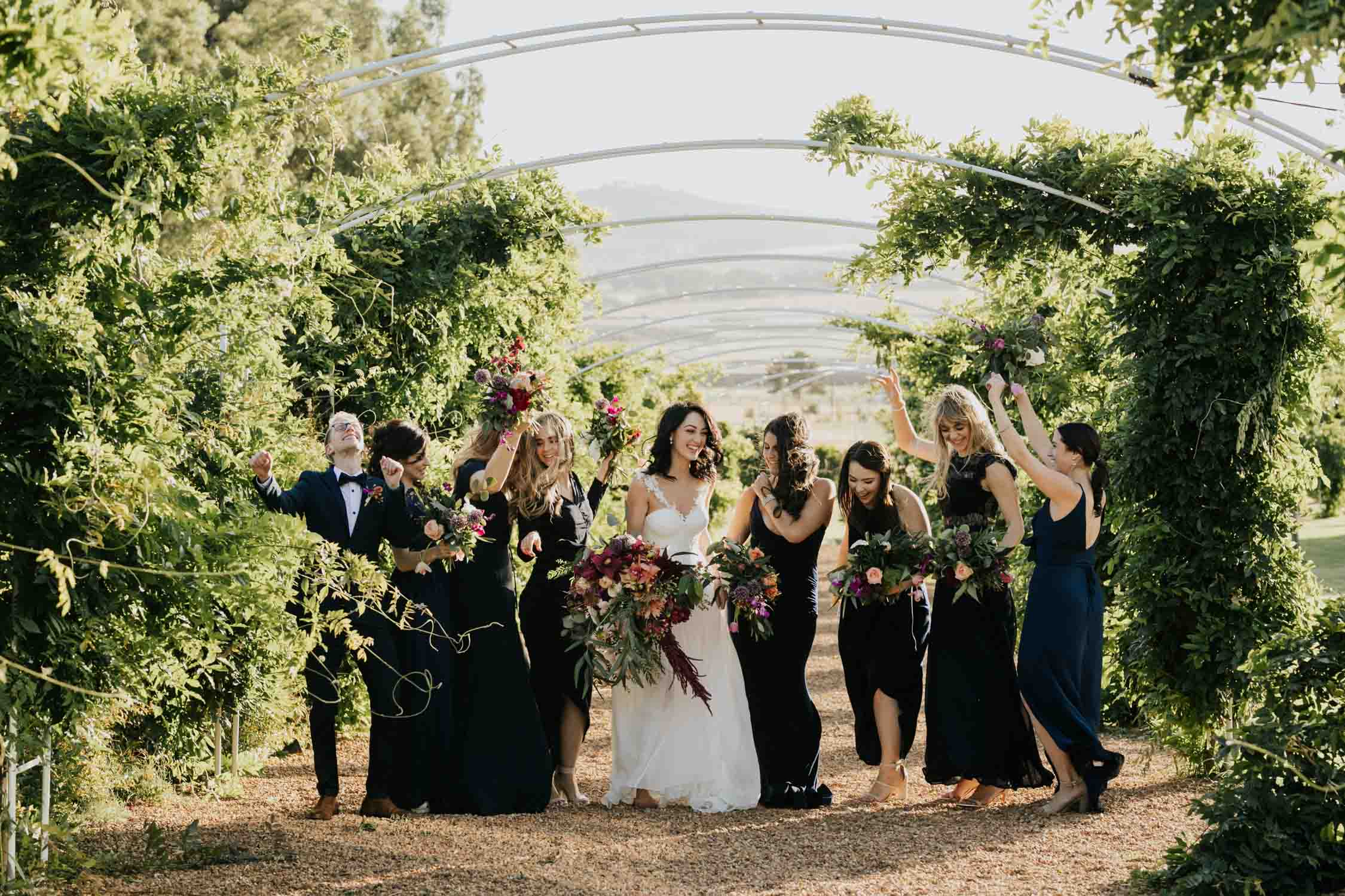 Fun non cheesy bridal party photo ideas