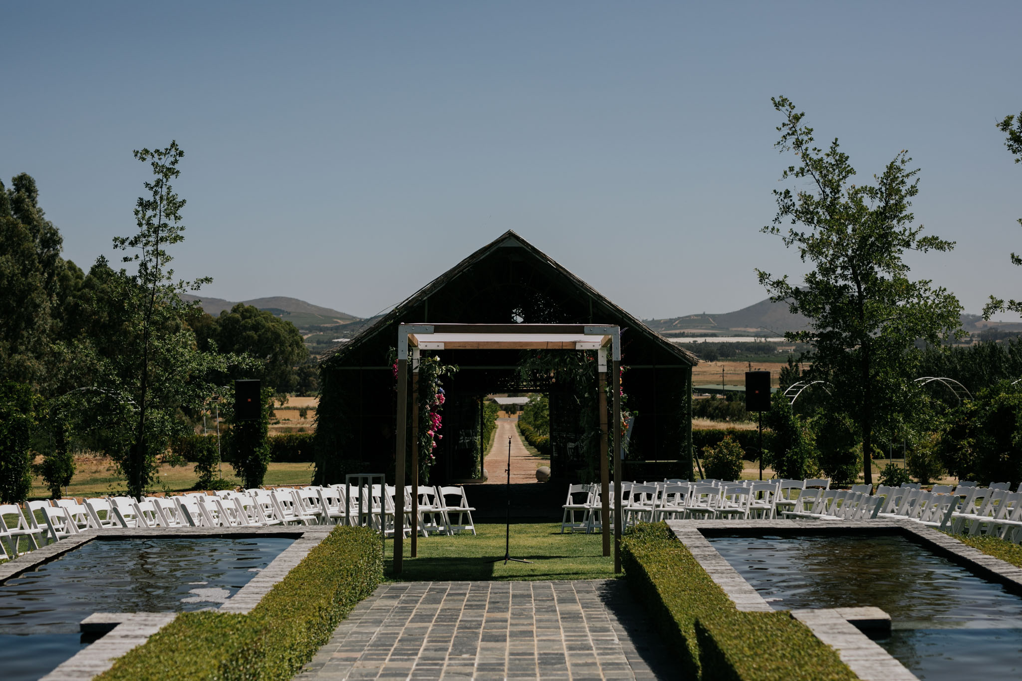 Belair Outdoor Wedding Ceremony Location Cape Town