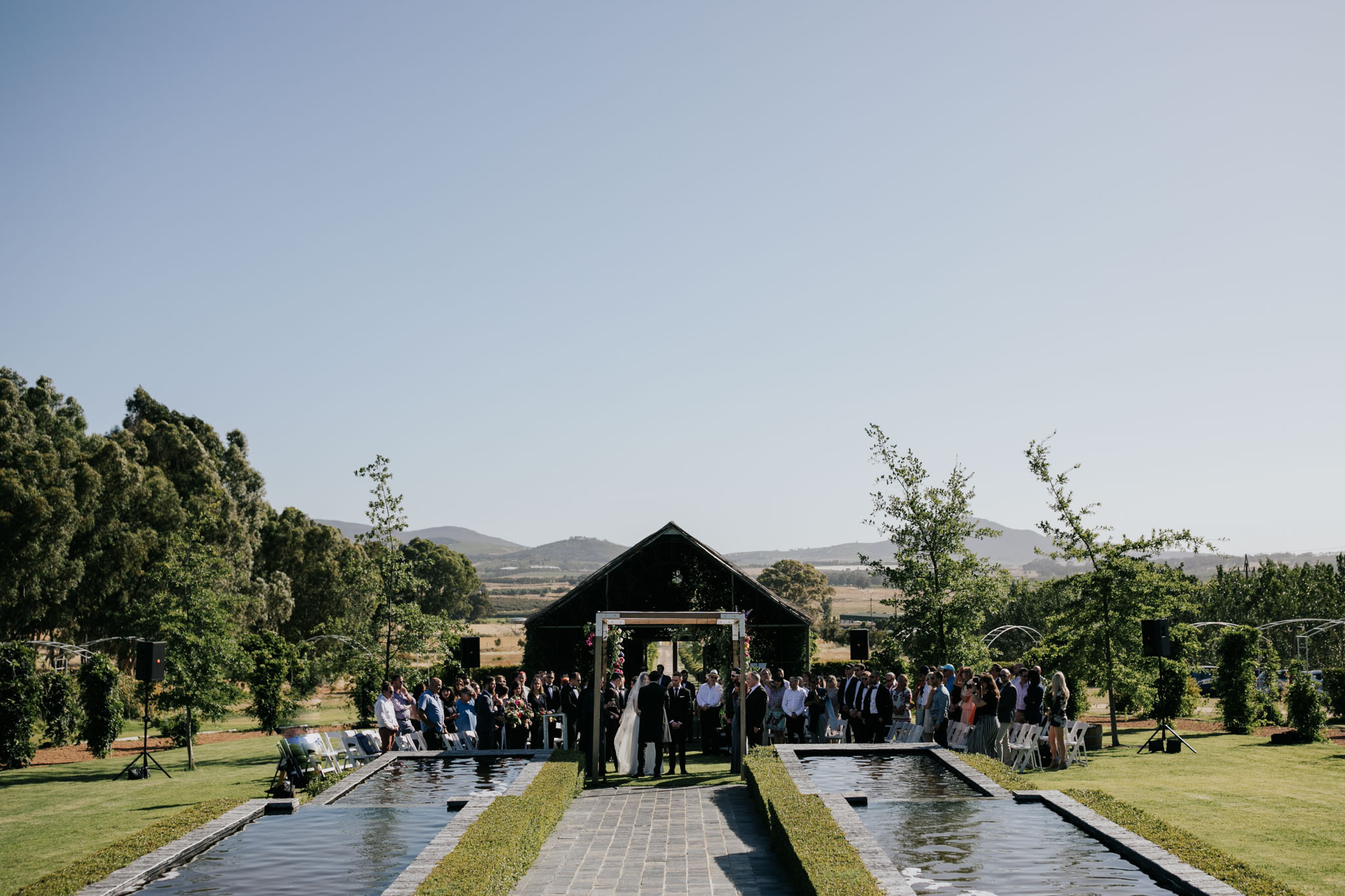 Outdoor Ceremony Belair Cape Town Wine Farm Wedding