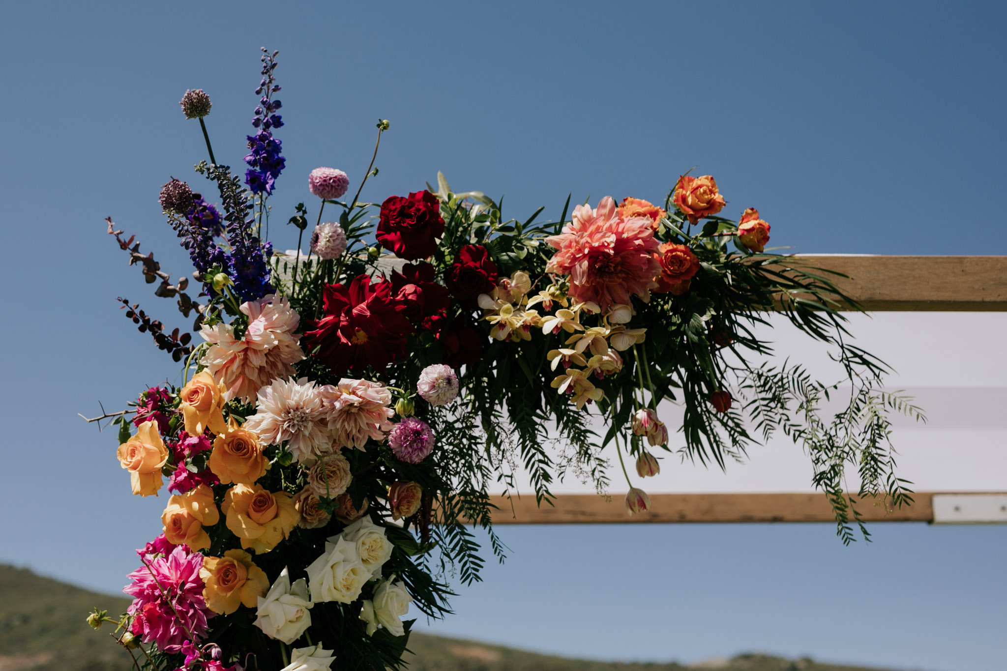 Bright floral wedding arch ideas