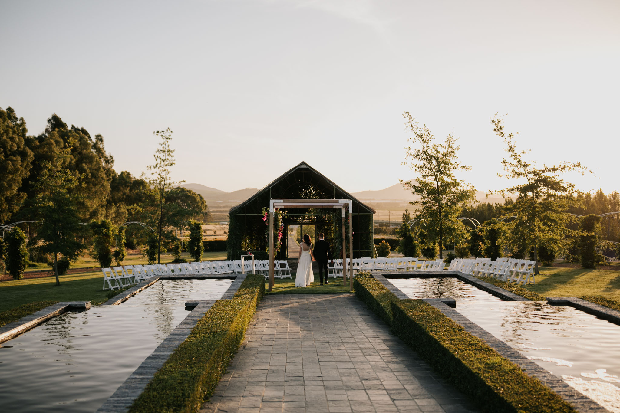 Outdoor wedding venue ceremony Belair Cape Town