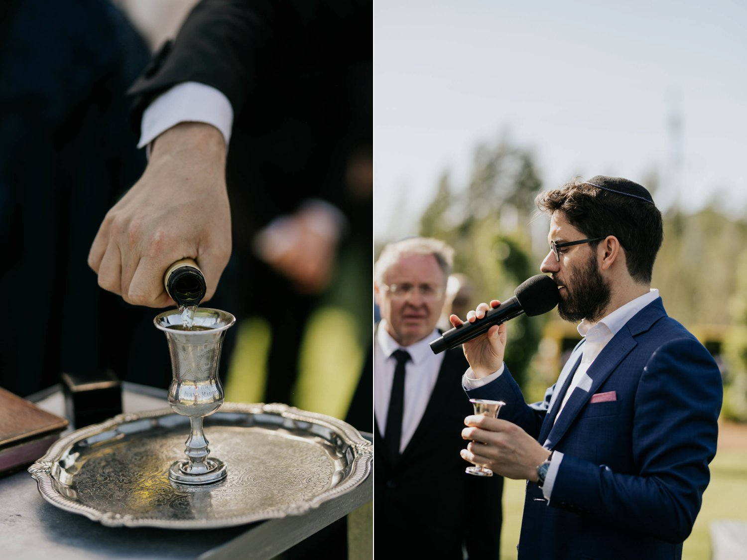 Sheva B'rachot seven blessings Jewish wedding ceremony