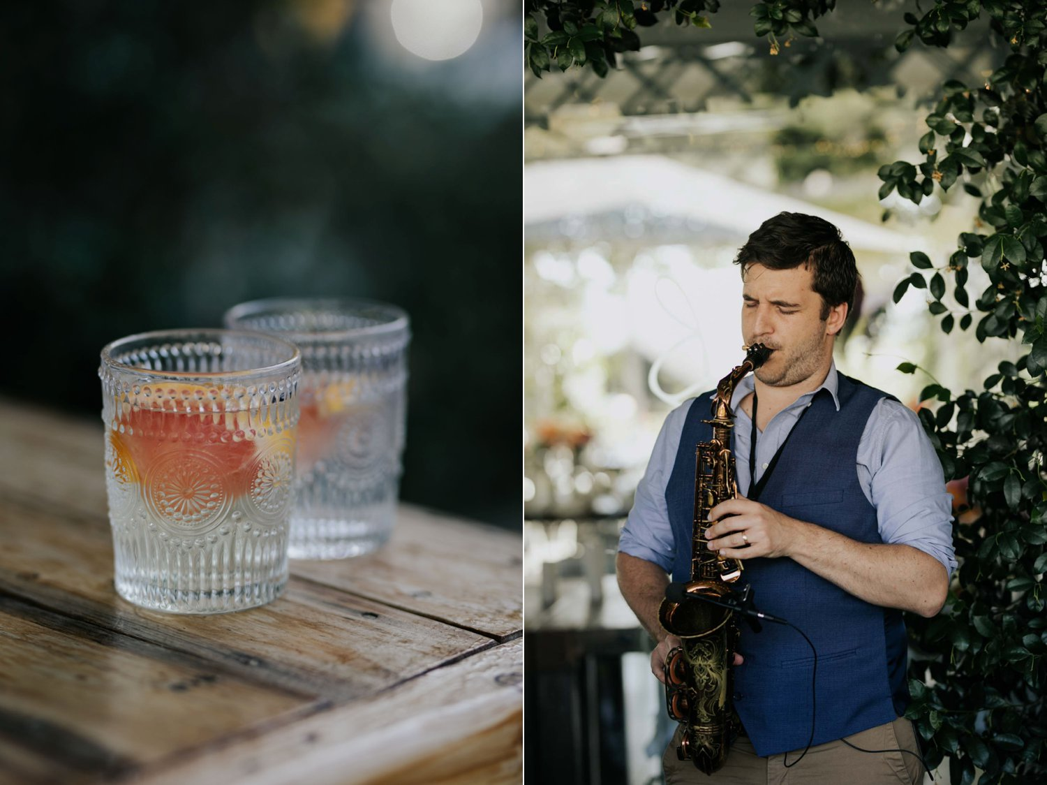 Love music and gin entertainment ideas for wedding cocktail hour