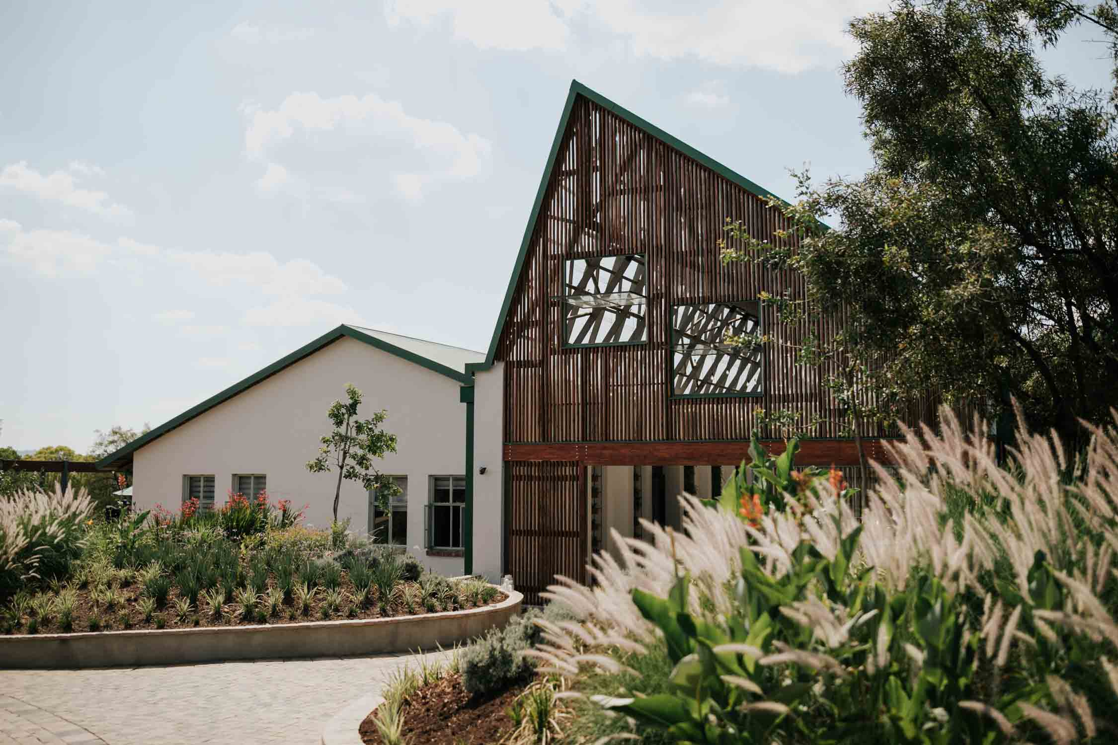 The Greenhouse Cafe is a modern wedding venue set on Rosemary Farm in Pretoria