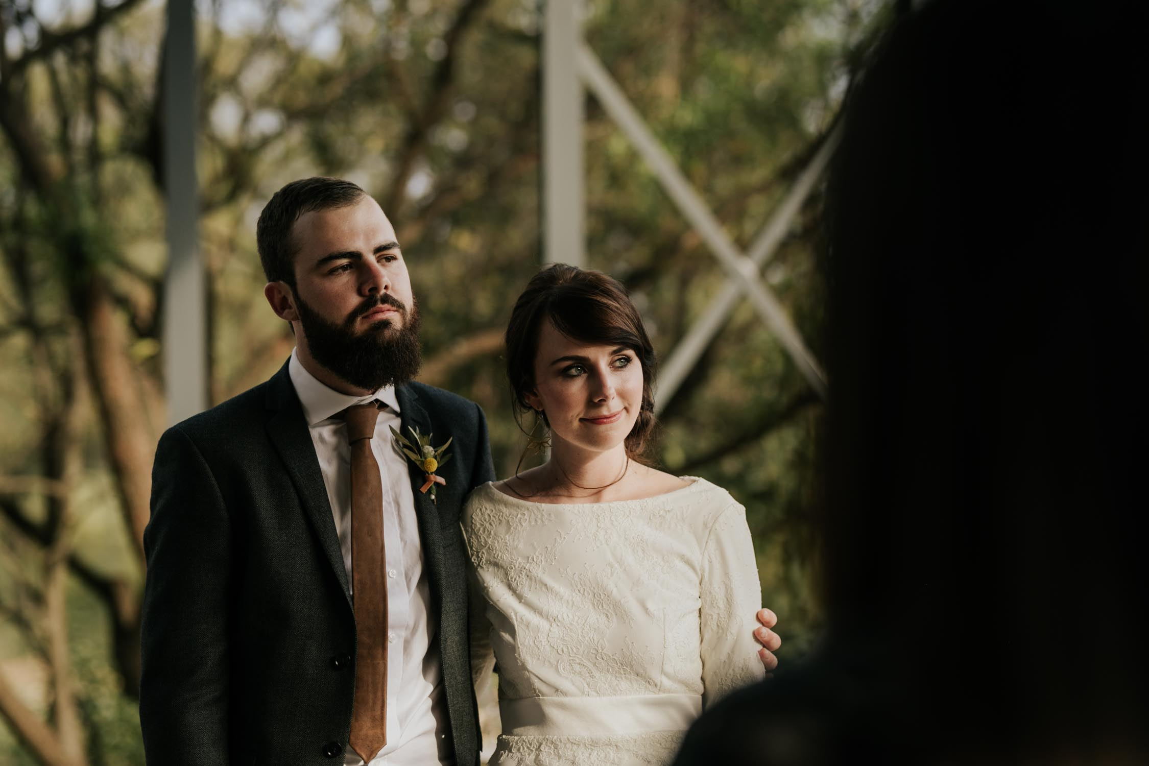 Cool hipster wedding couple