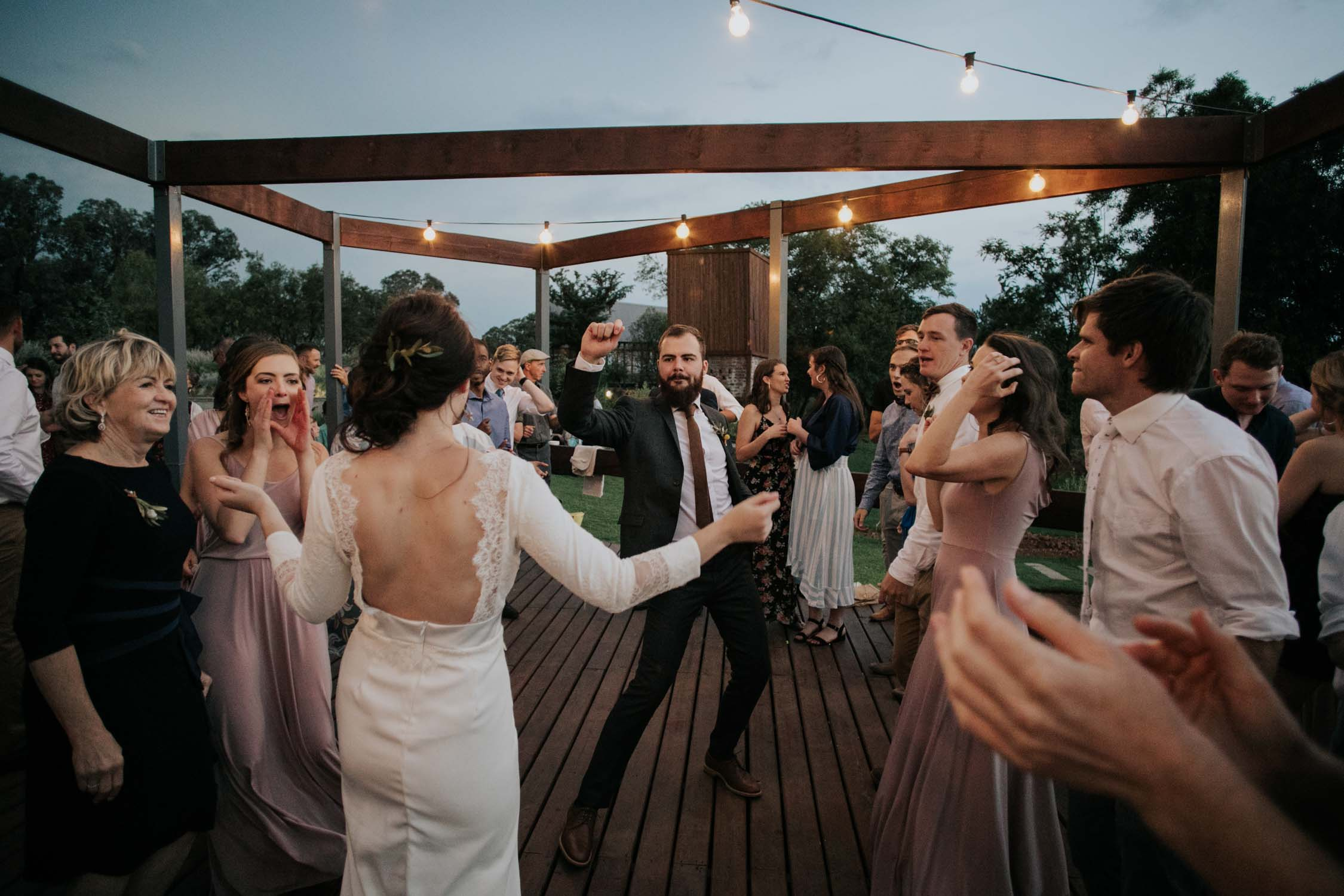 Crazy and cool dance floor moves and moments at wedding