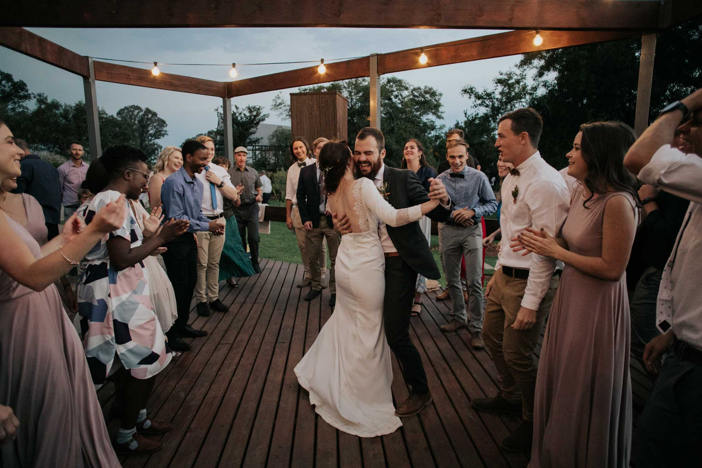 Fun dance floor moves and moments at wedding