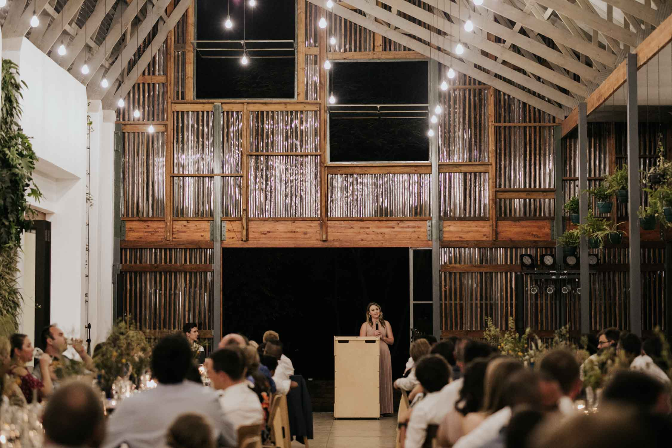 Sister of the bride makes emotional speech at Greenhouse Cafe wedding
