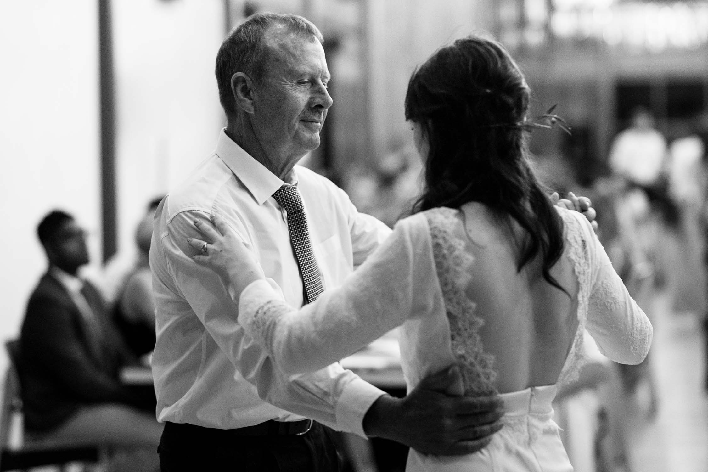 Father and daughter dance at The Permanent Wedding Venue in Vancouver, Canada