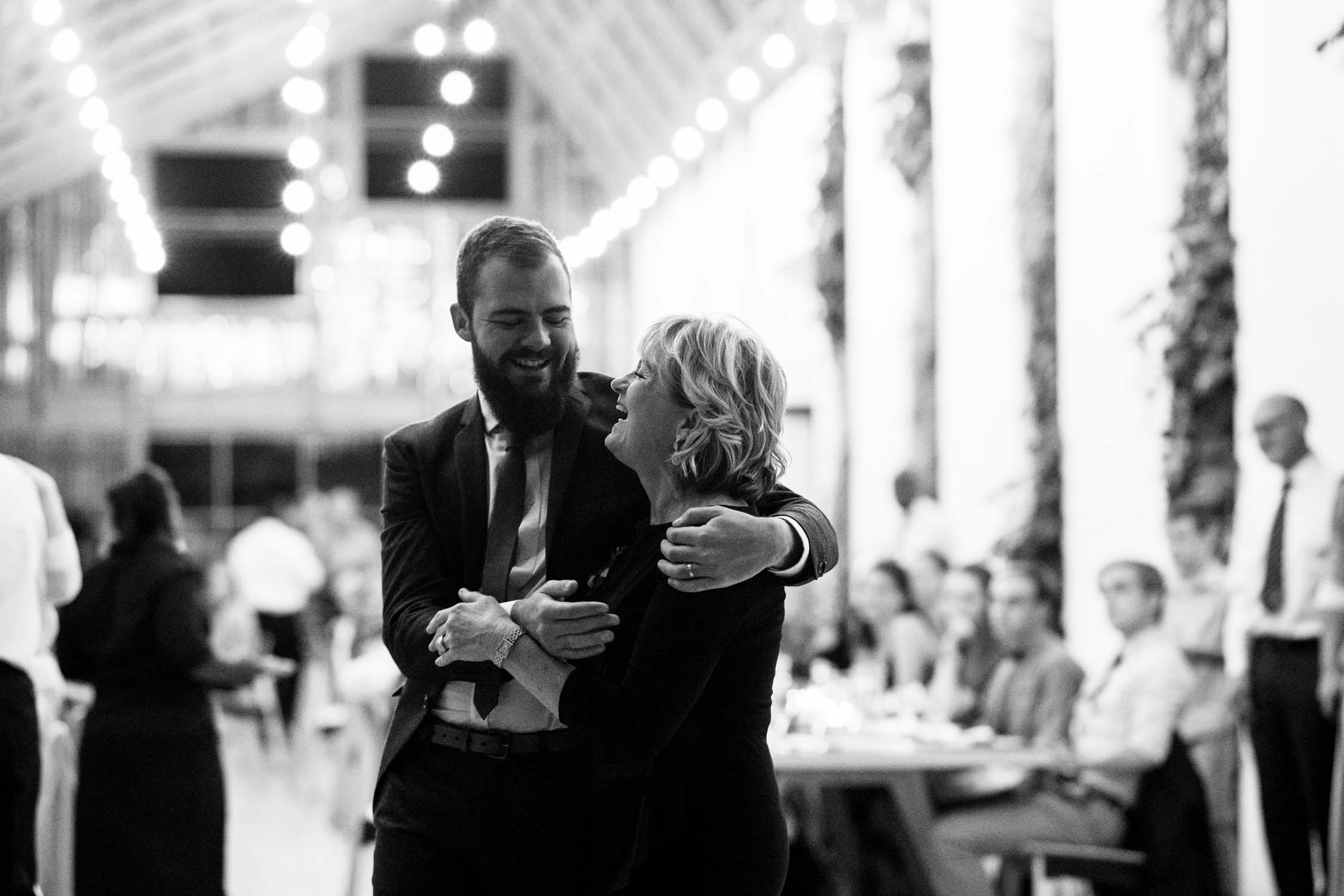 Mother and son dance at The Pipe Shop Wedding Venue in Vancouver, Canada