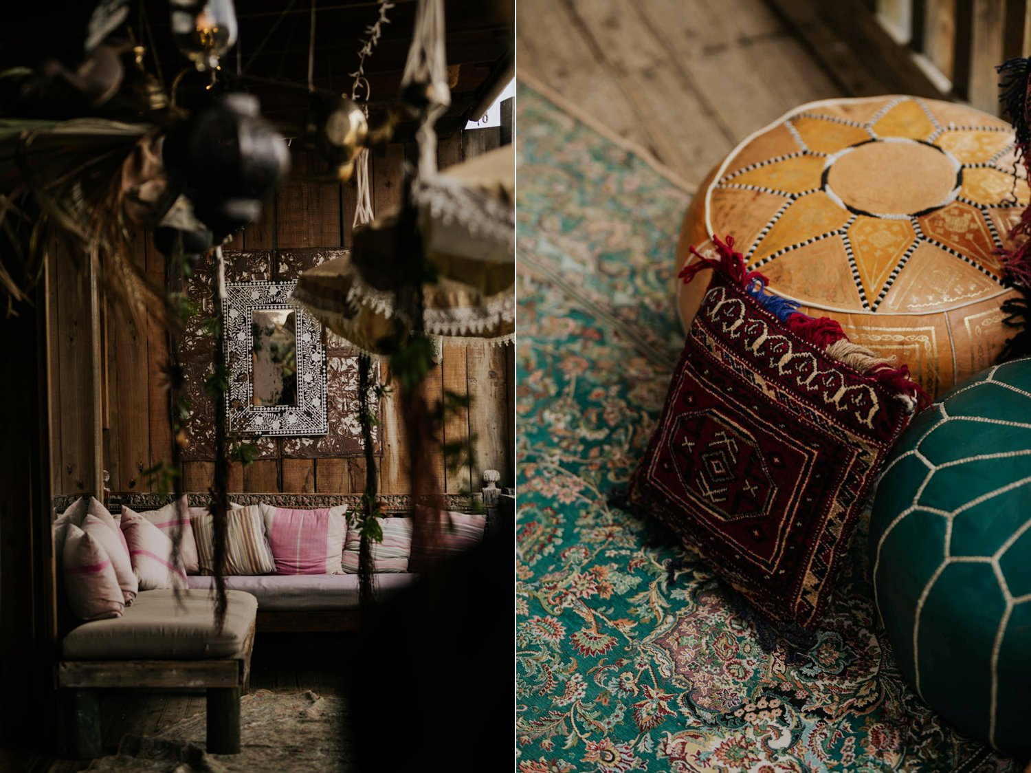 Decor and furniture inspiration and details at Boho Chic Wedding