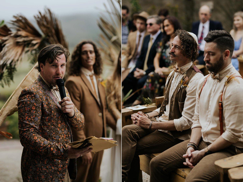 Boho wedding ceremony at Emily Moon River Lodge in Plett