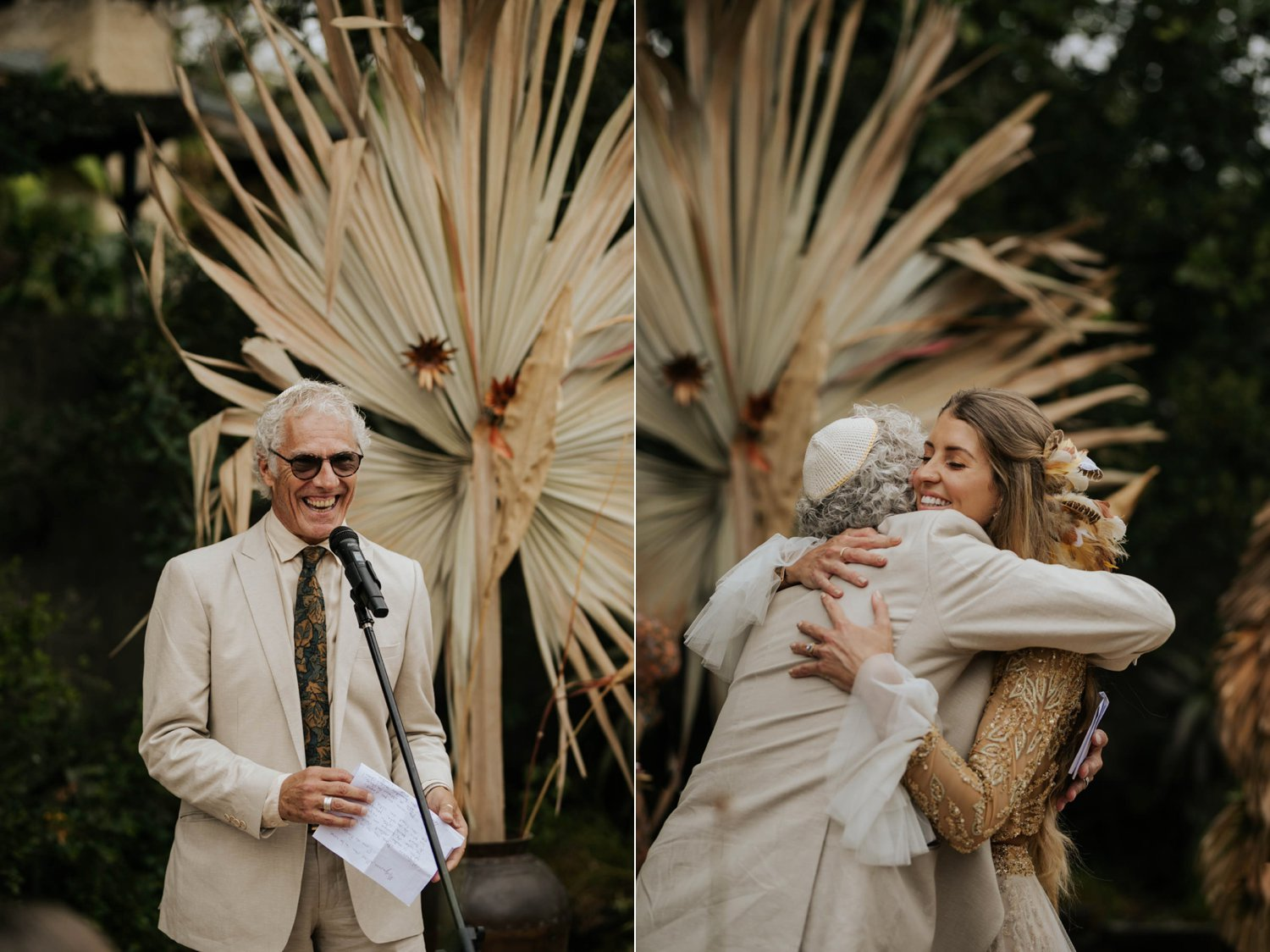 Father of groom says French poem in wedding ceremony