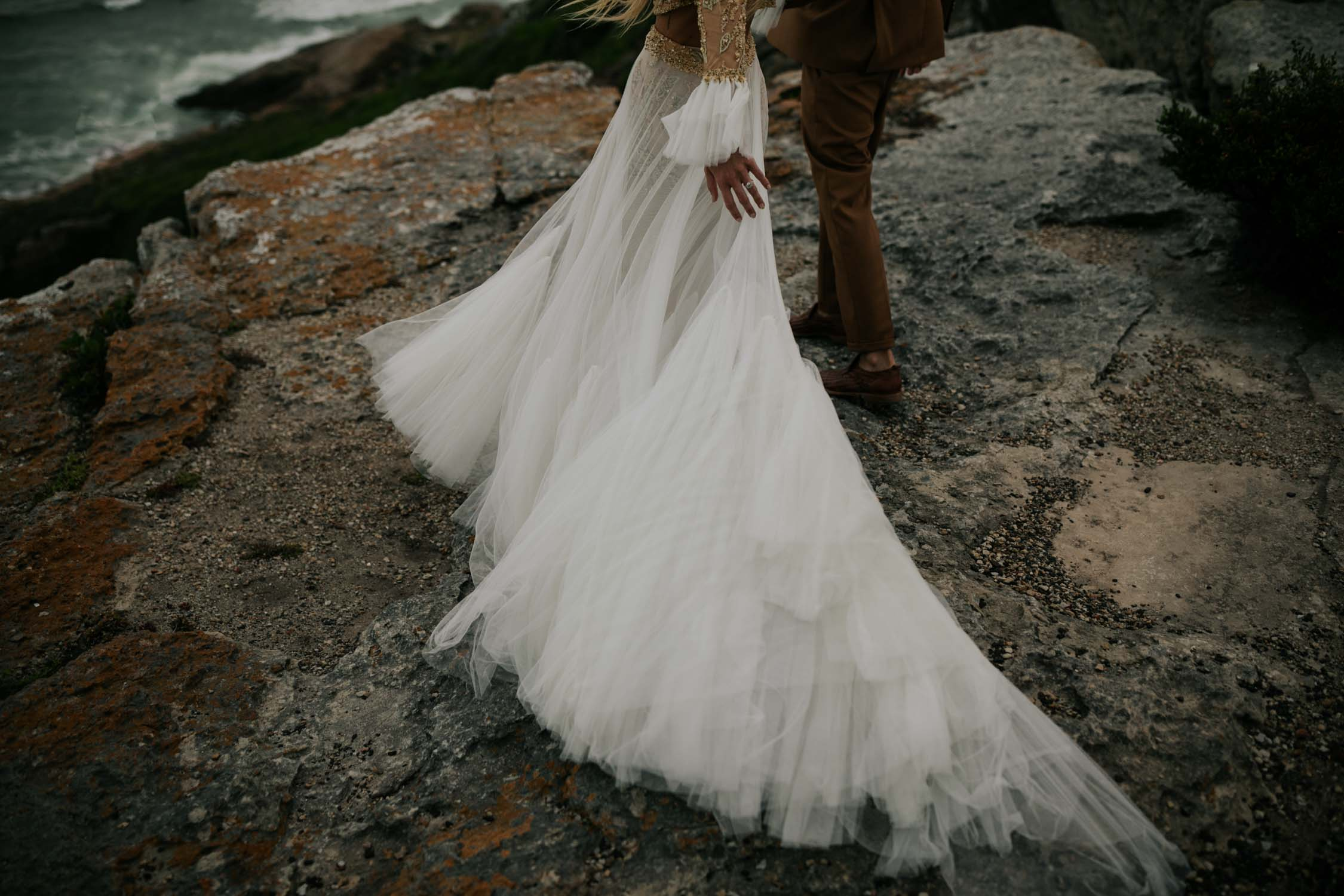 Wild and windy wedding photo by candid Vancouver Wedding Photographer