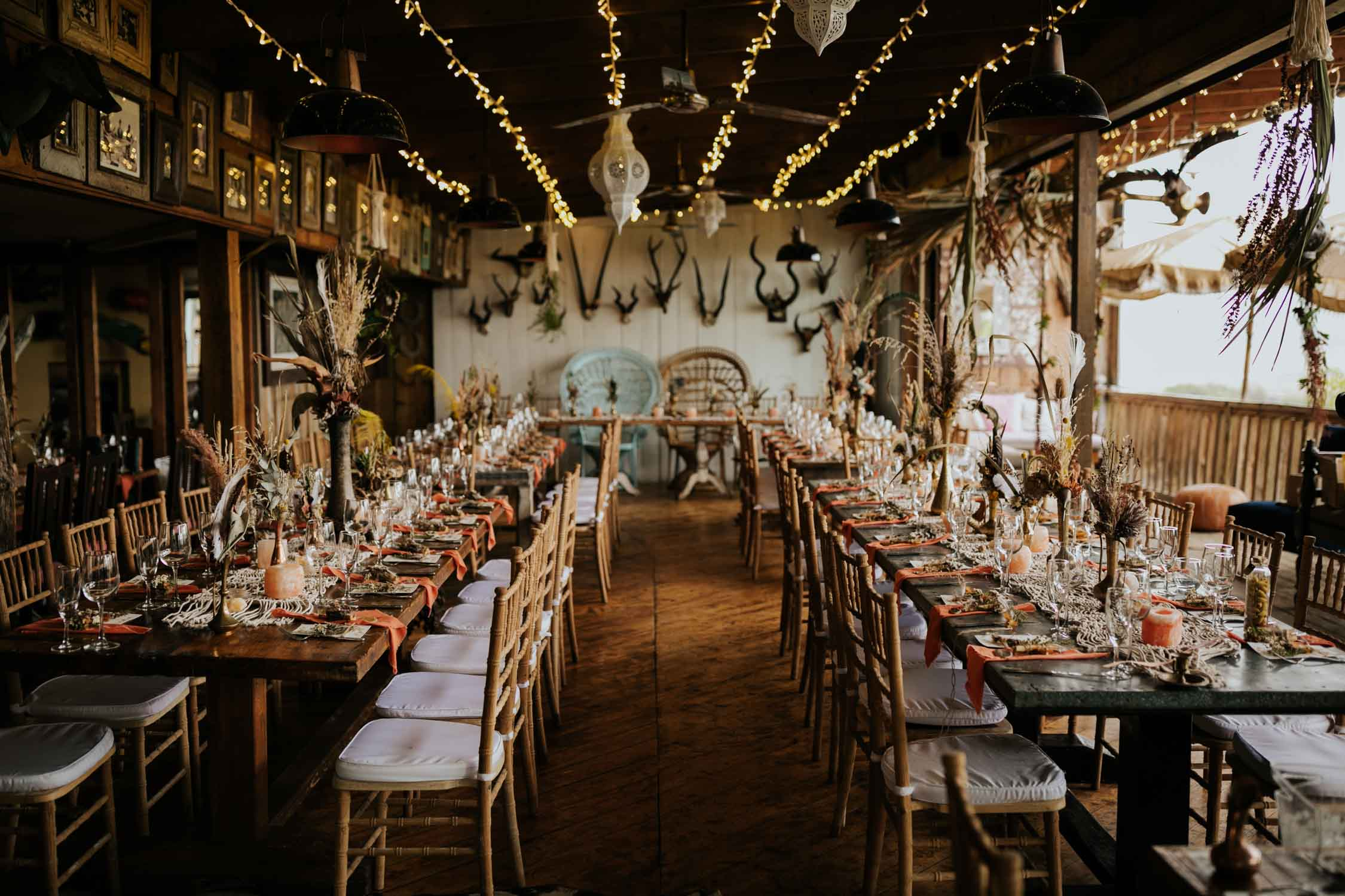 The ultimate table and reception decor inspiration for rustic Boho Wedding at Emily Moon, Plett Wedding Venue