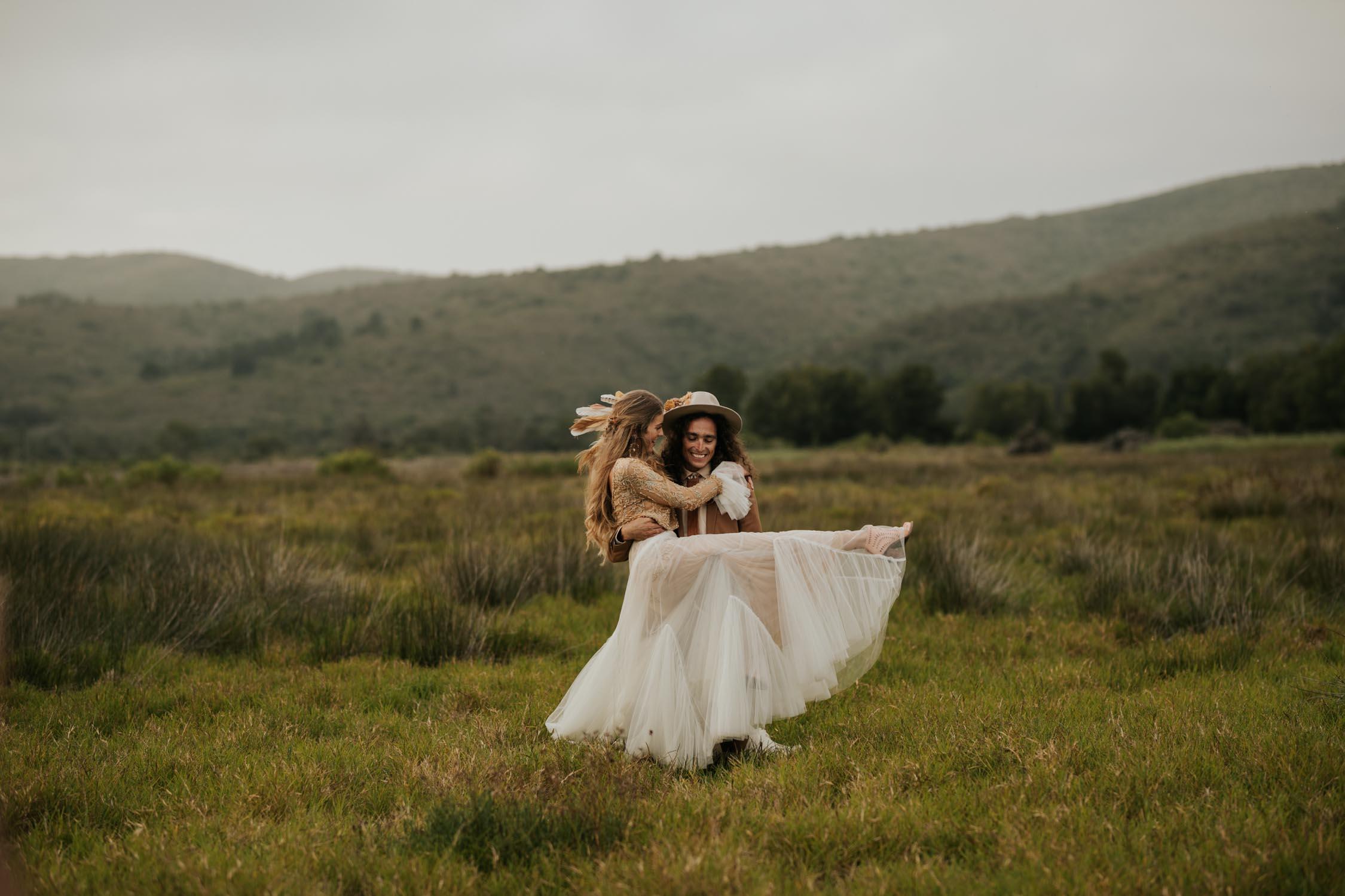 Ultimate Boho bride and groom