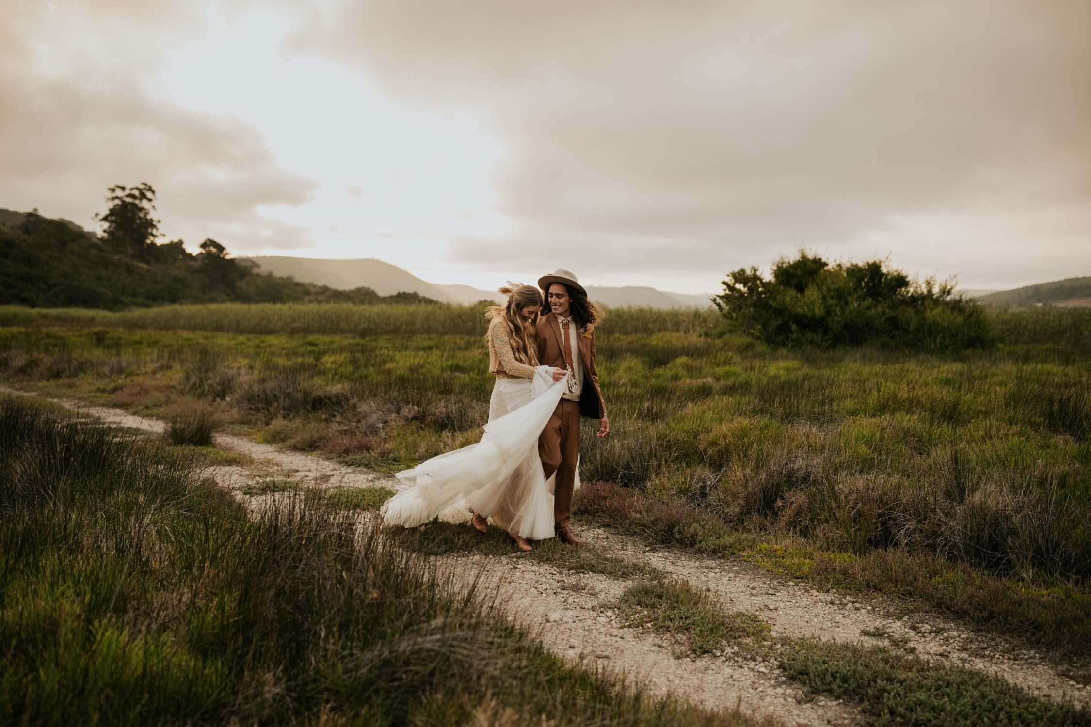 Best Vancouver Wedding Photographer takes amazing romantic photo of boho couple at destination wedding