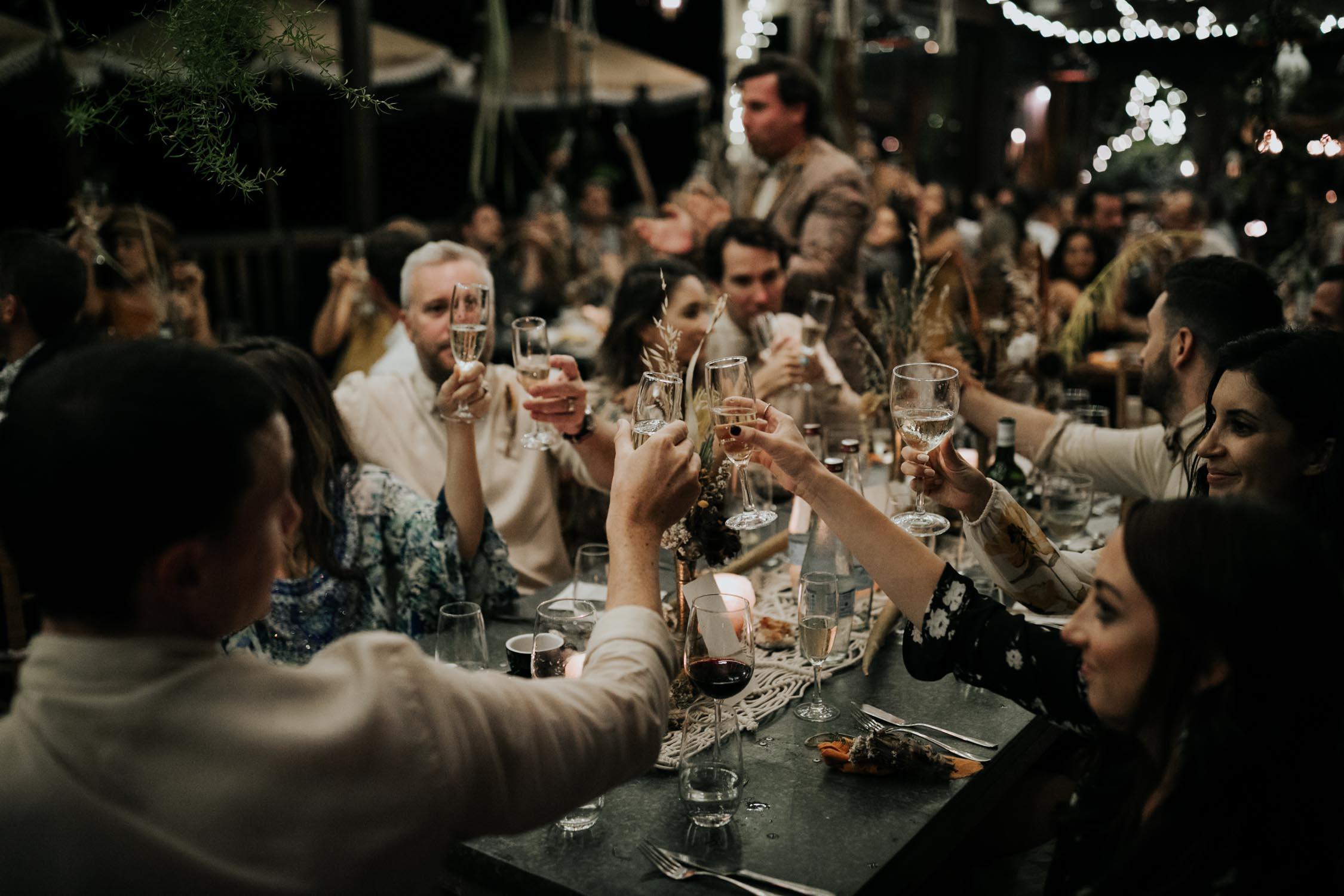 Emily Moon River Lodge wedding reception setup