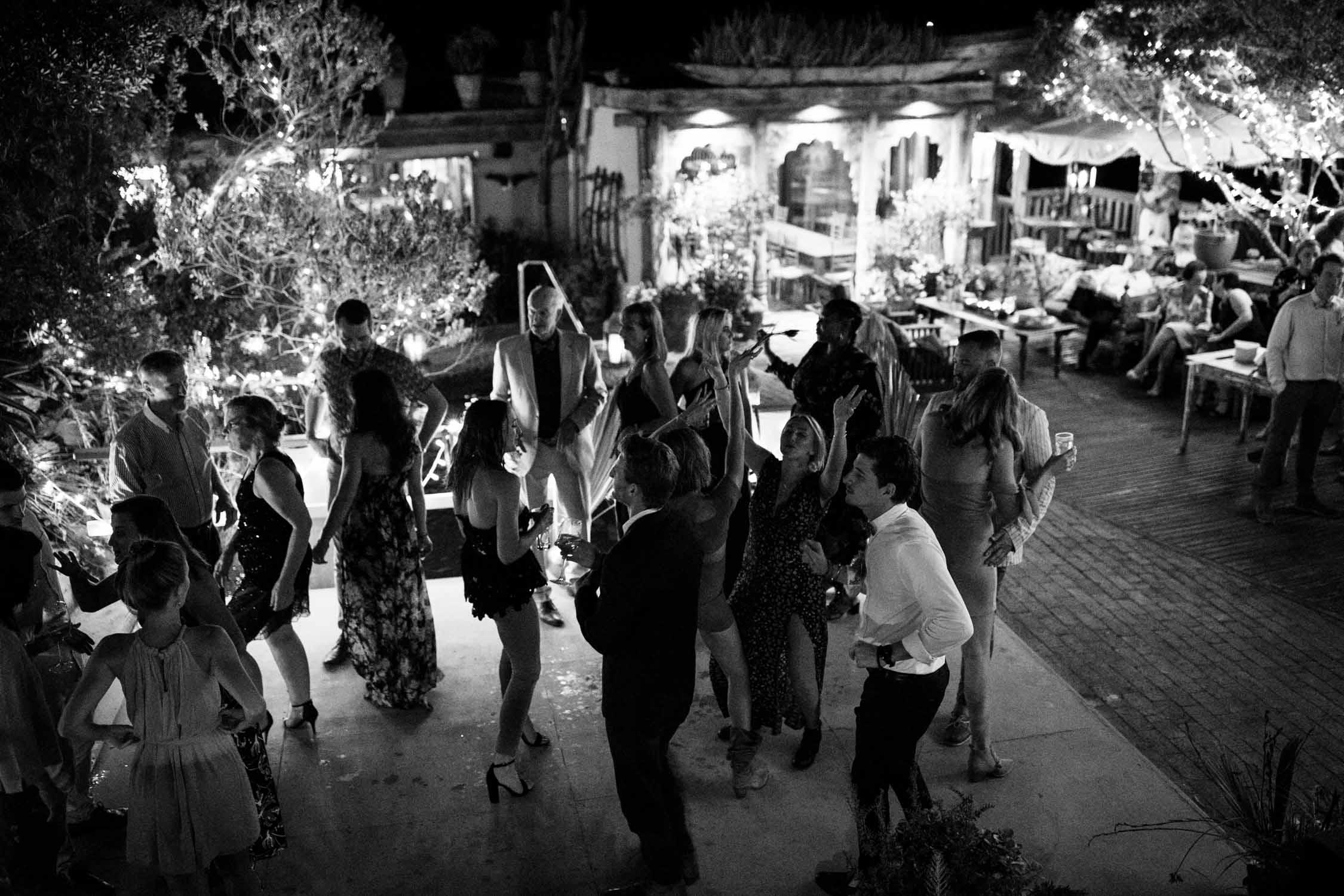 Outside dance floor and Emily Moon River Lodge wedding