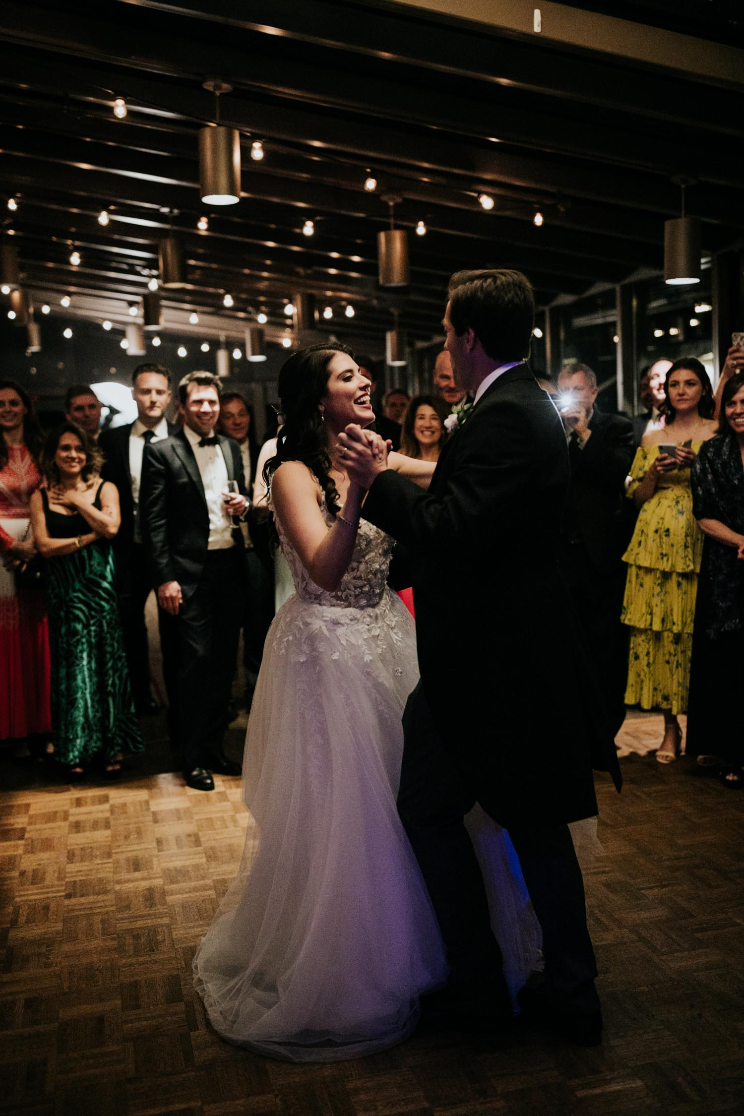 Bride and groom's first dance at Brock House Vancouver Wedding Venue