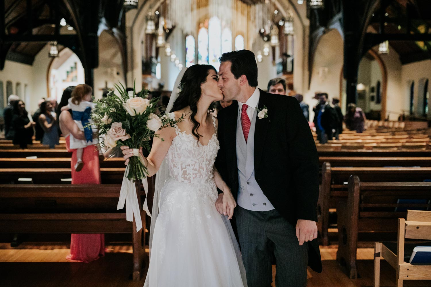 First kiss at Christ Church Cathedral in Vancouver