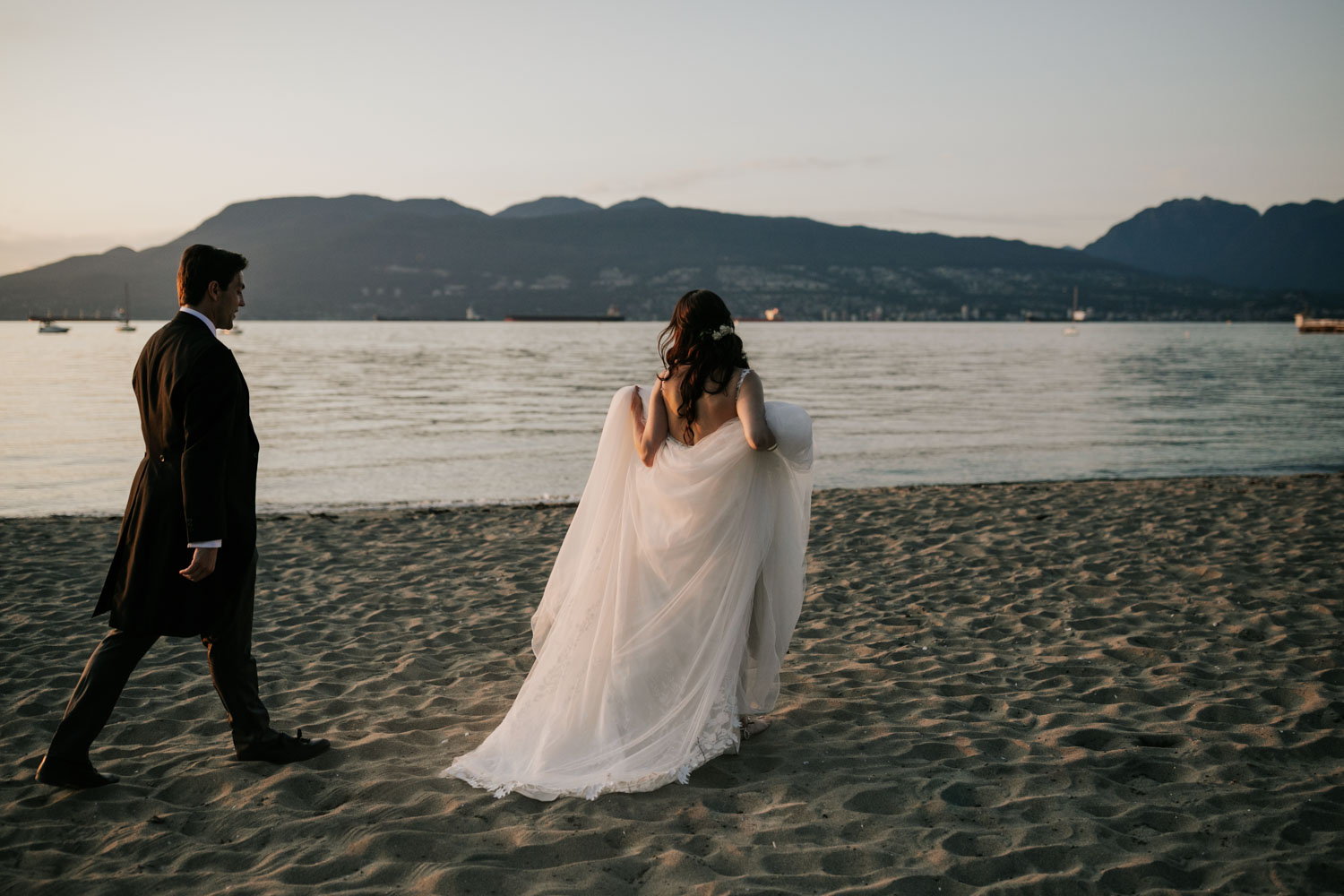 Best Brock House Wedding Photos on Jericho beach by Page and Holmes Vancouver Wedding Photographer