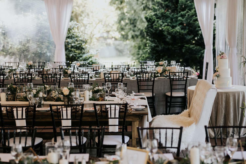 Brock House outdoor wedding reception patio