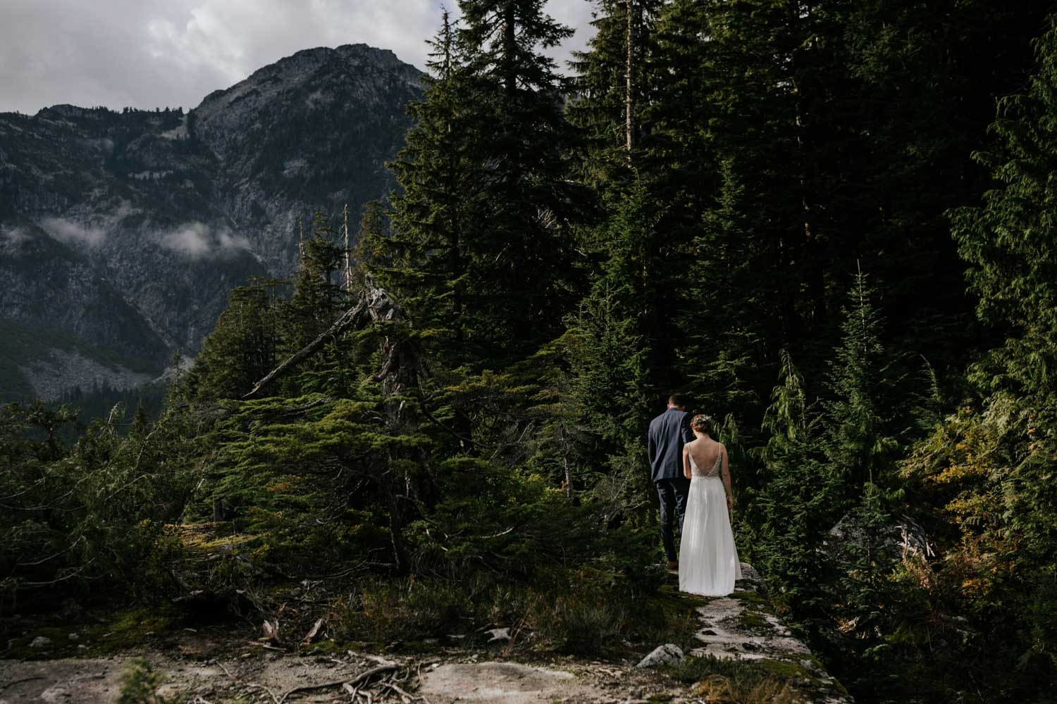 Incredible location for adventure mountain elopement in Vancouver in the PNW forest