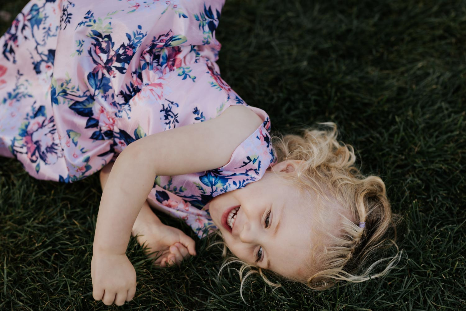 Cute pink and navy flower girl dress inspiration