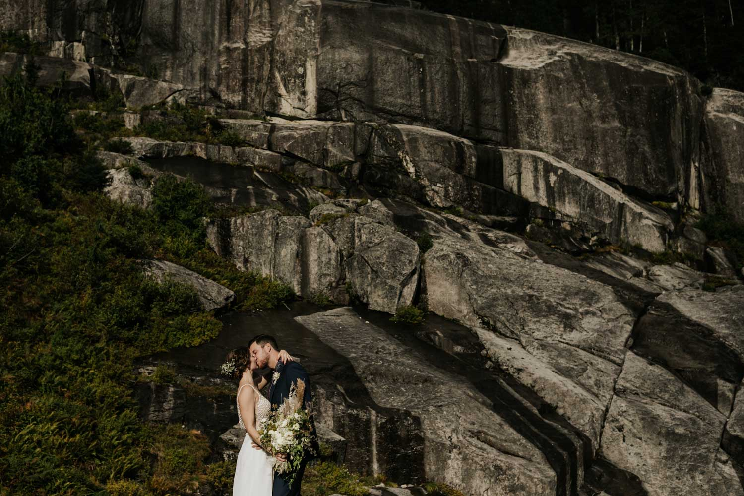 Epic elopement location in the Whistler mountains in BC near Vancouver
