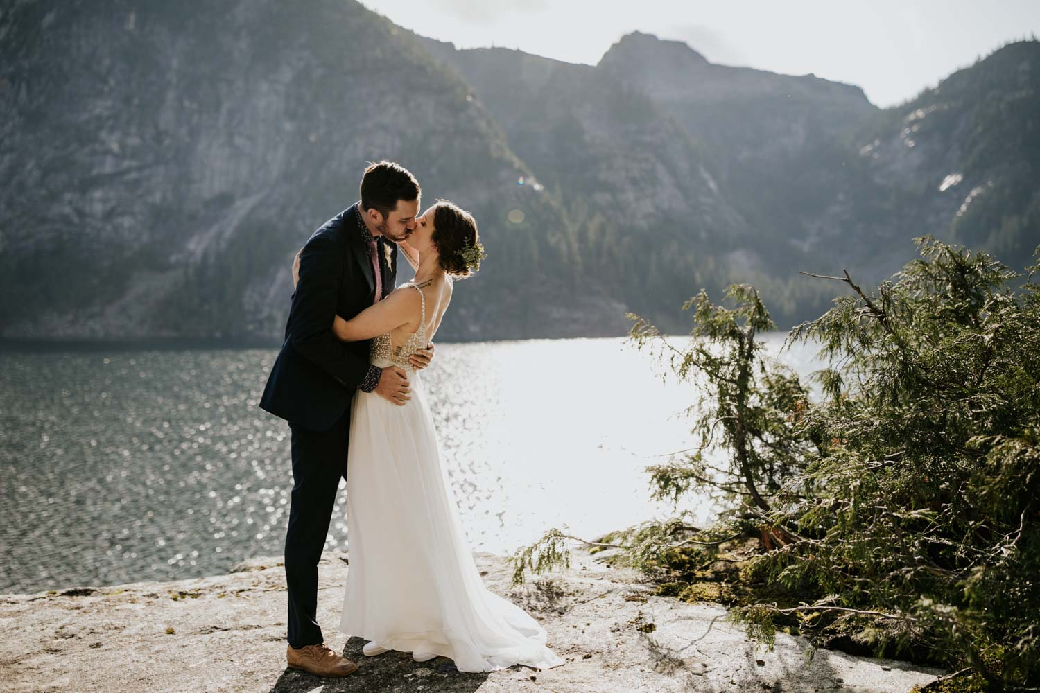 Vancouver Elopement locations in nature with ocean lake and mountain views