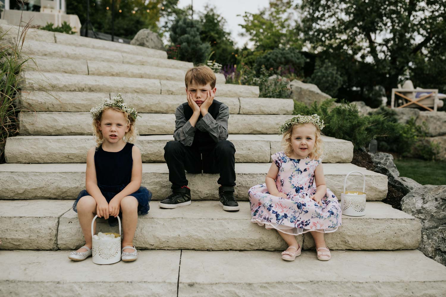 Funny photo of kids at weddings