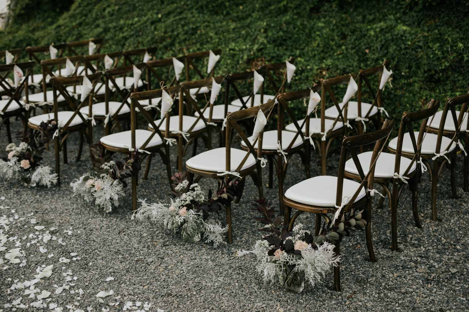 Intimate Vancouver Island Wedding Ceremony Decor Ideas