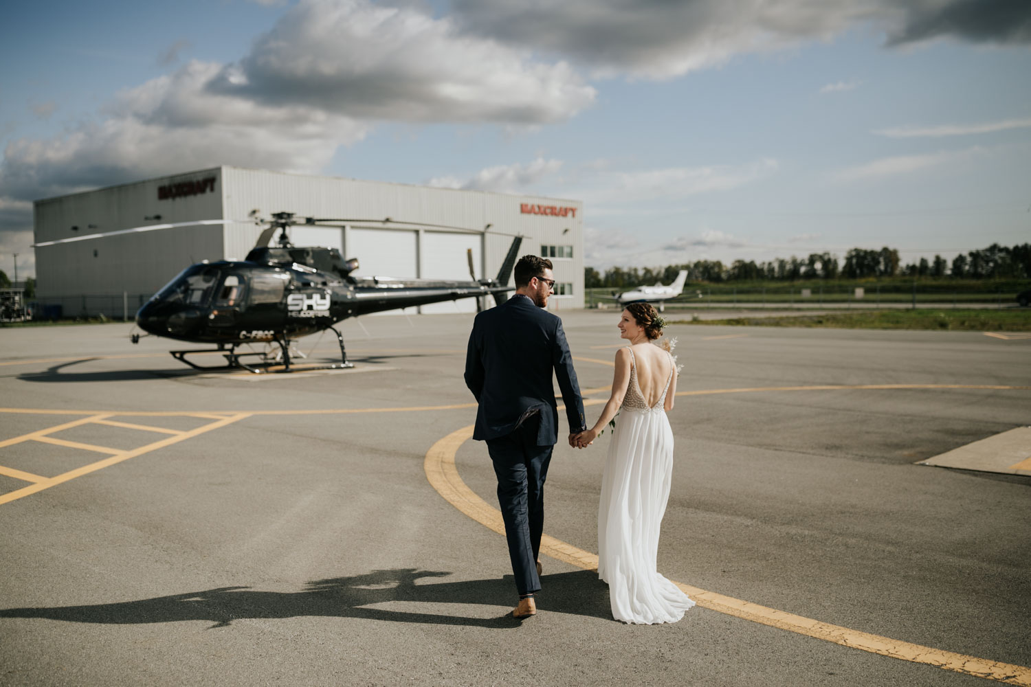 Helicopter elopement with Sky Helicopters in Vancouver to Widgeon Lake and Peak