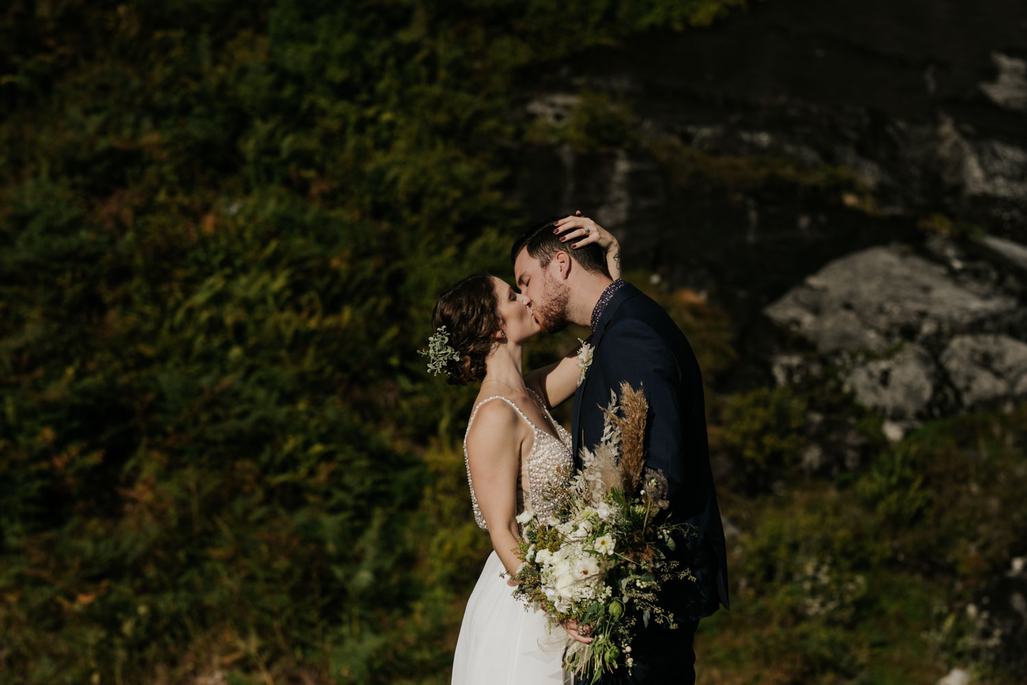 Epic first kiss elopement in Vancouver