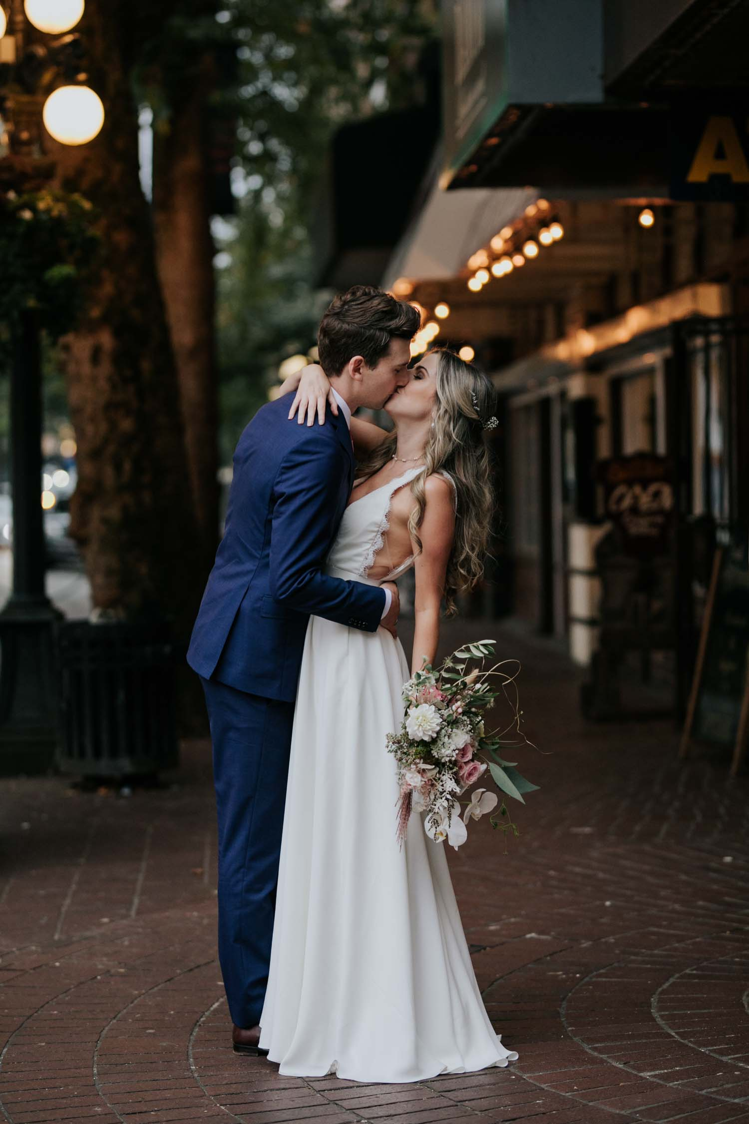 Wedding photos in Gastown Vancouver