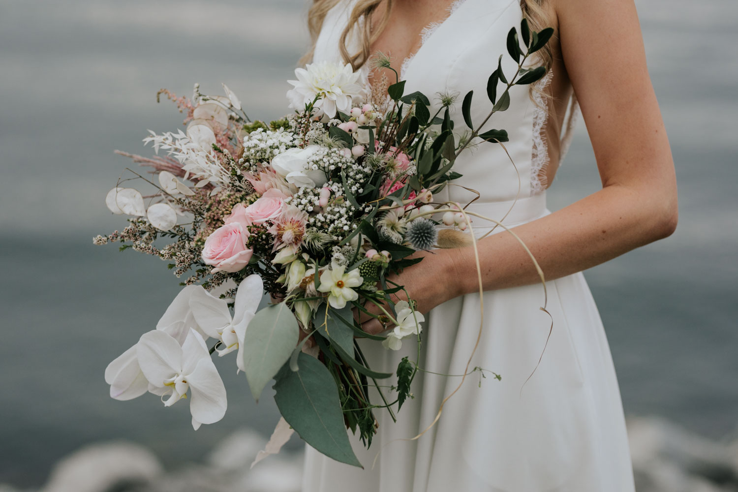 Wedding bouquet by The Wild Bunch, best alternative Vancouver wedding florist