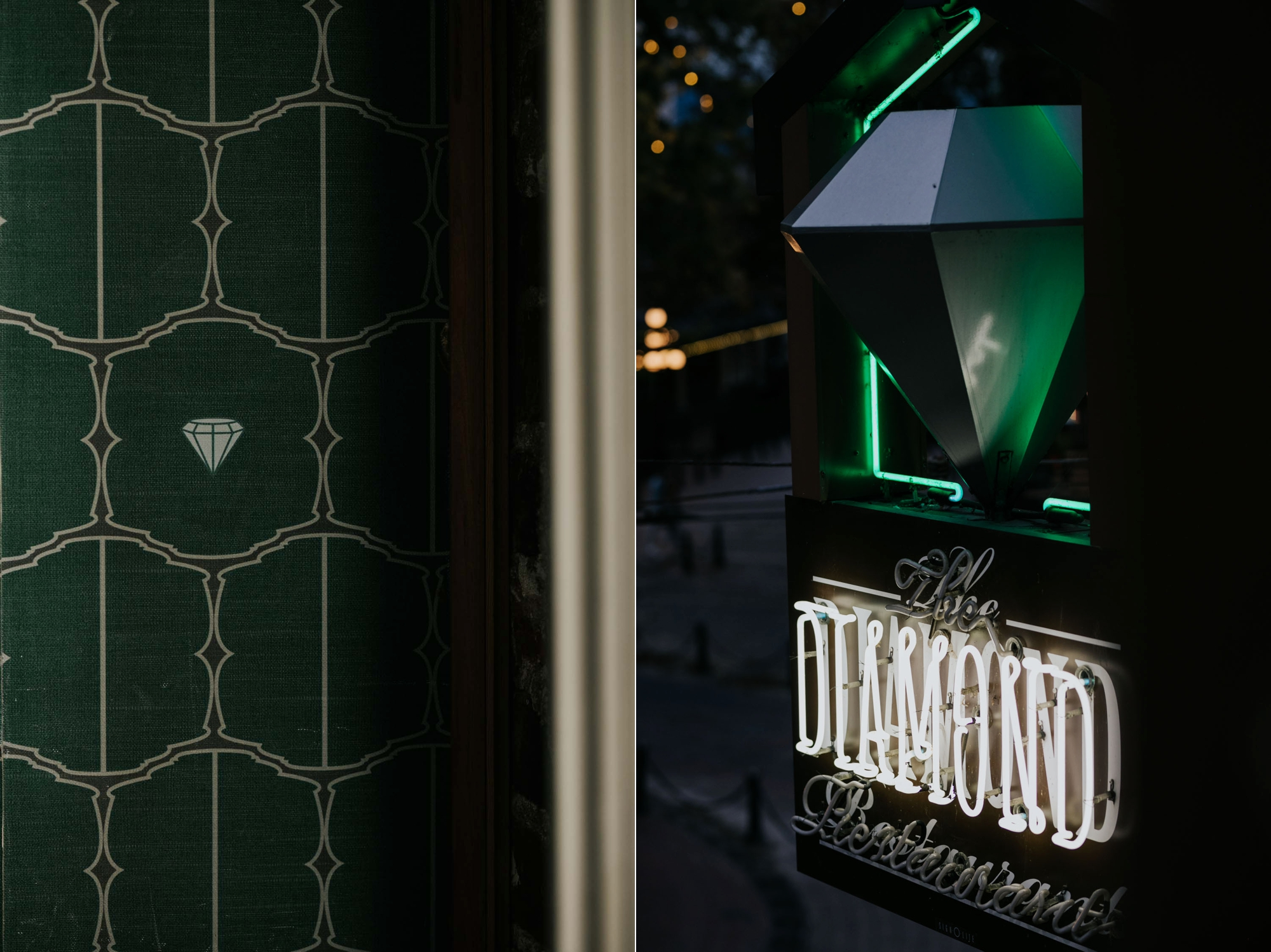 The Diamond in Gastown neon sign and wallpaper