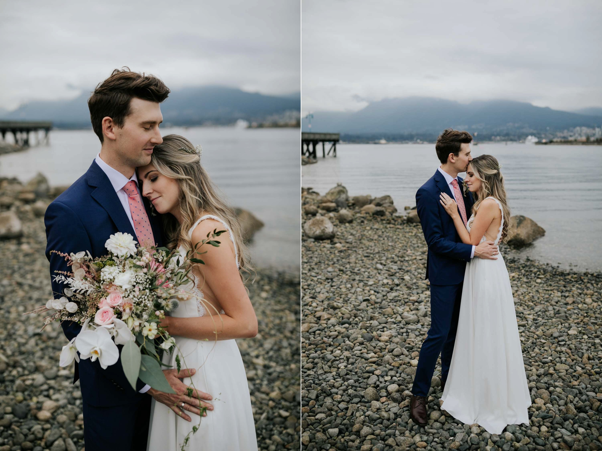 Crab Park, Vancouver BC Wedding Couple Photoshoot on the beach