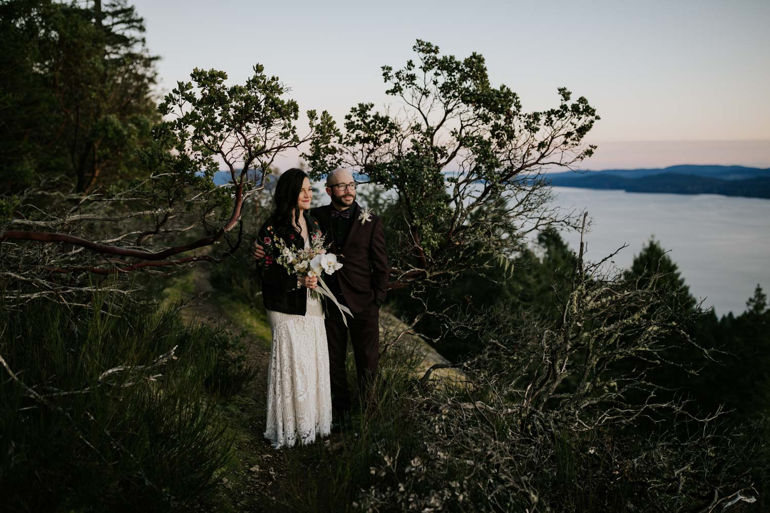 Bodgea Ridge Elopement on Galiano Island
